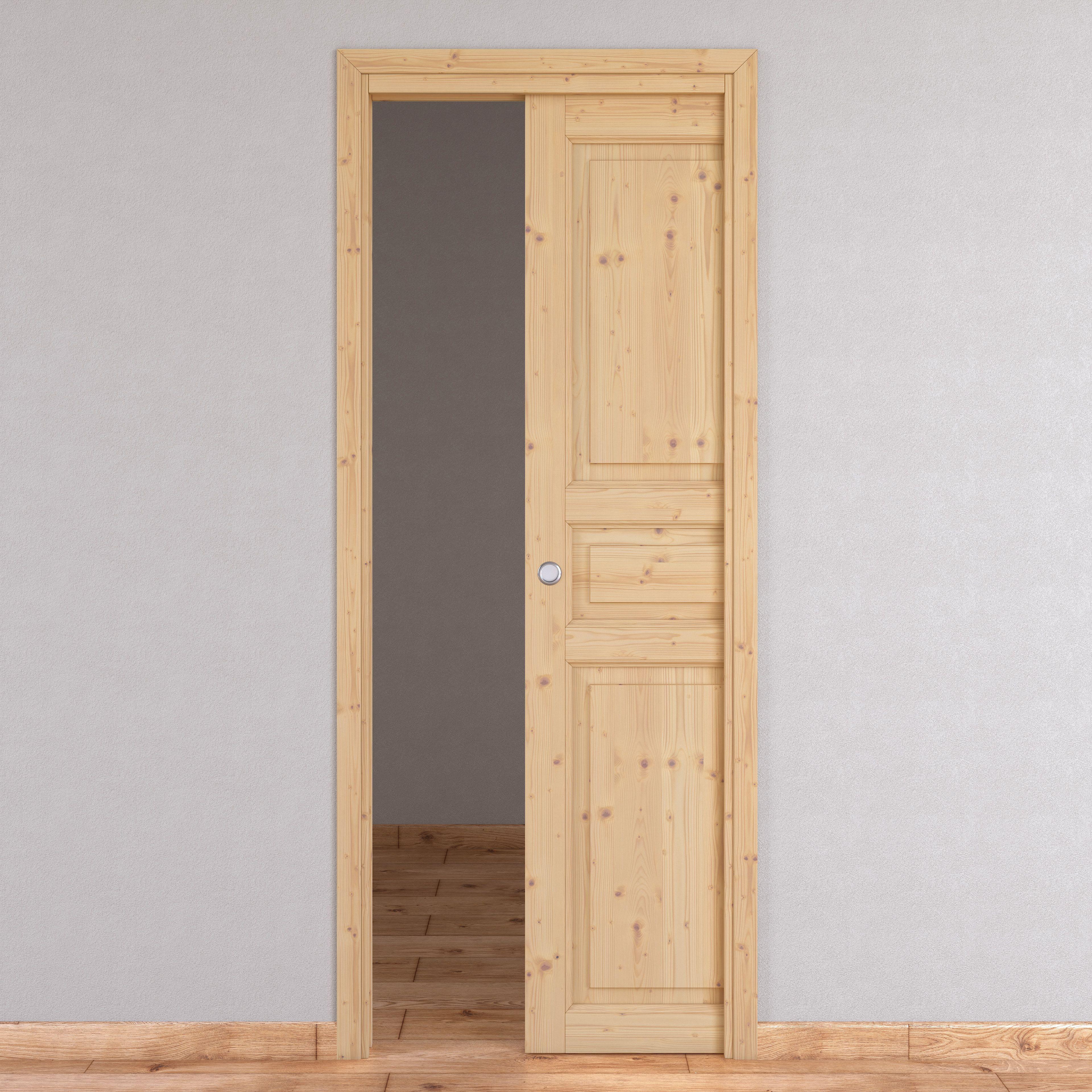 Porta Scrigno 60 Cm porta scorrevole a scomparsa beethoven naturale l 70 x h 210 cm reversibile