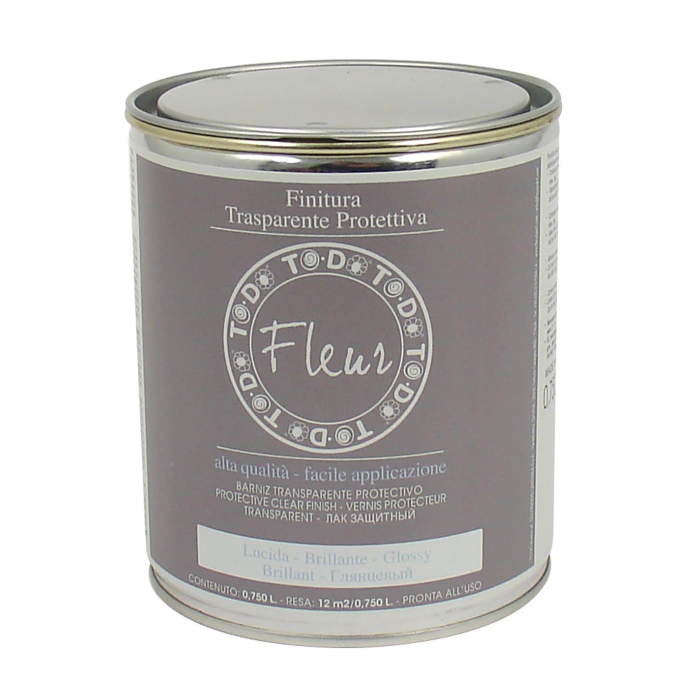 Pittura Vetrificata Per Cucina finitura fleur 0.75 l trasparente lucido