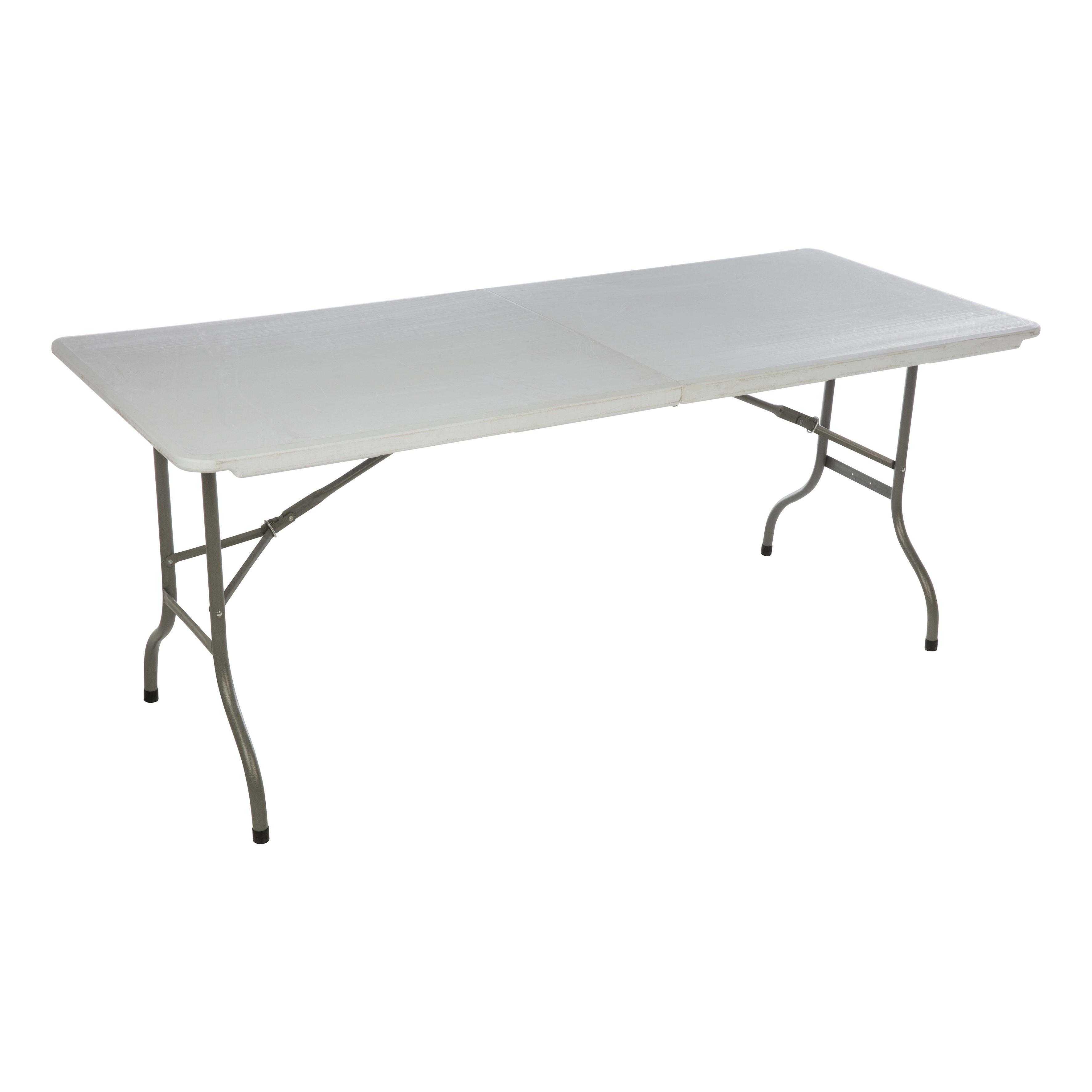 Tavoli In Plastica Pieghevoli.Tavolo Da Pranzo Per Giardino Rettangolare Con Piano In Resina L