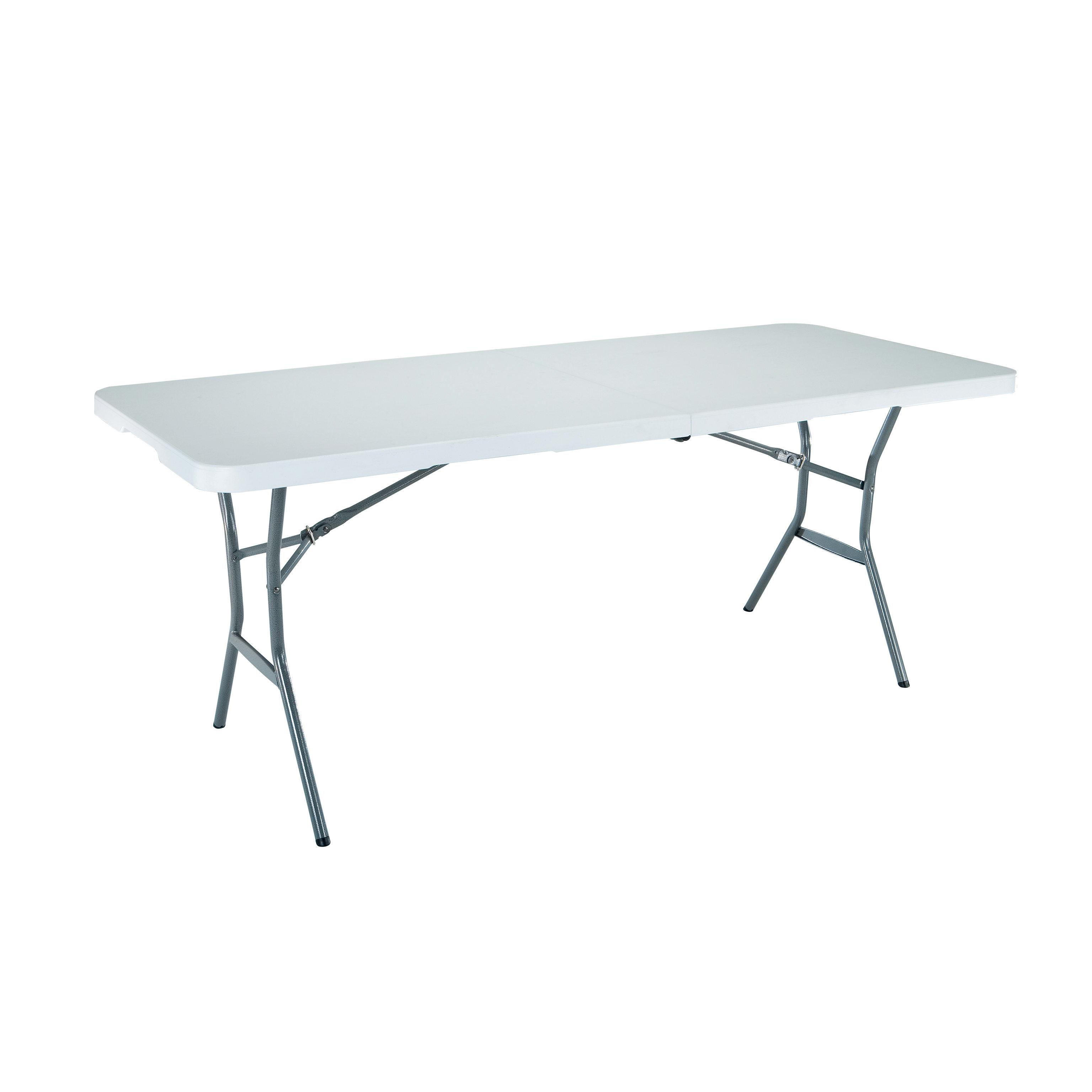 Tavoli Pieghevoli Plastica Per Catering.Tavolo Da Giardino Rettangolare Lifetime Con Piano In Plastica L