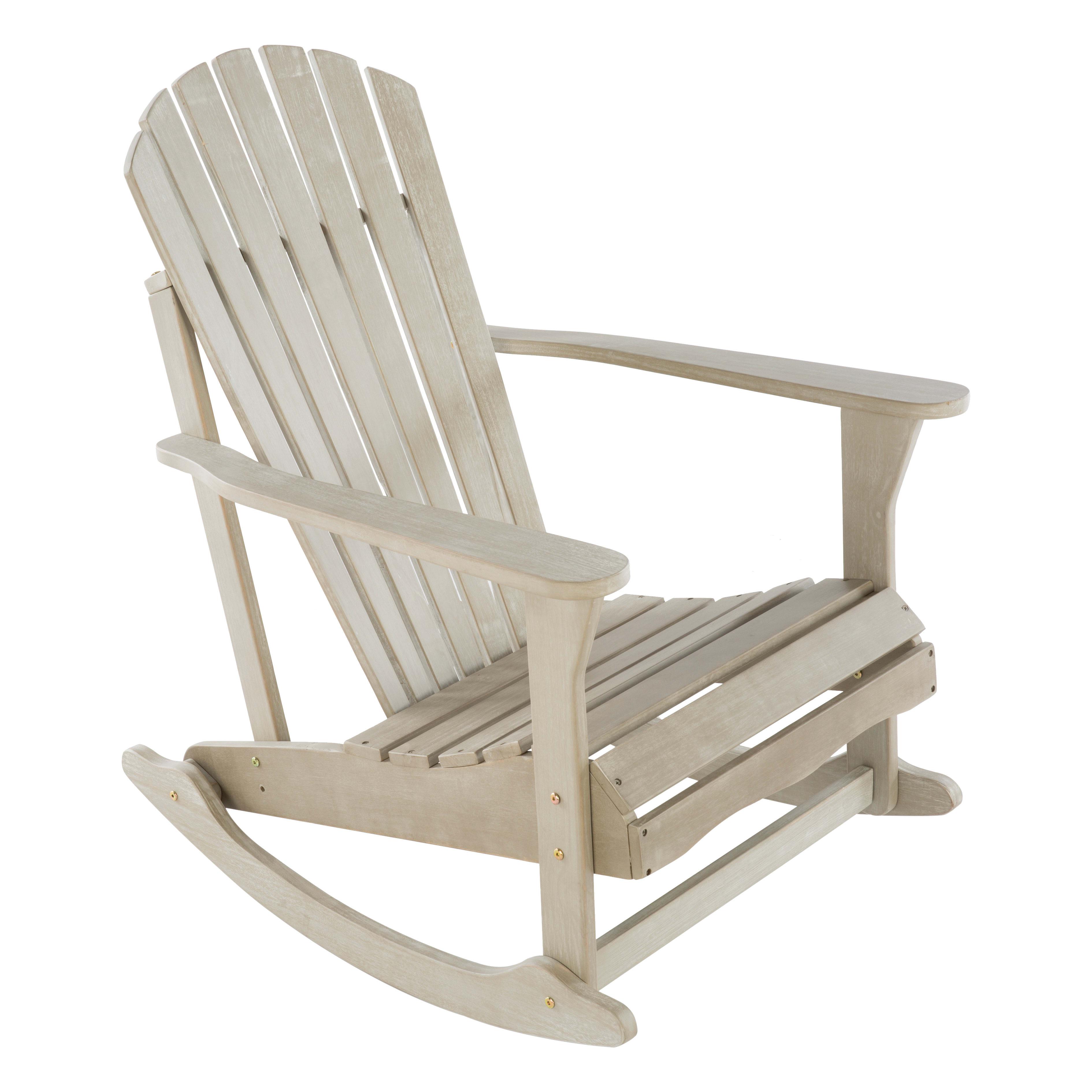 Sedie A Dondolo Per Terrazzo sedia da giardino senza cuscino in legno monopoli naterial colore grigio