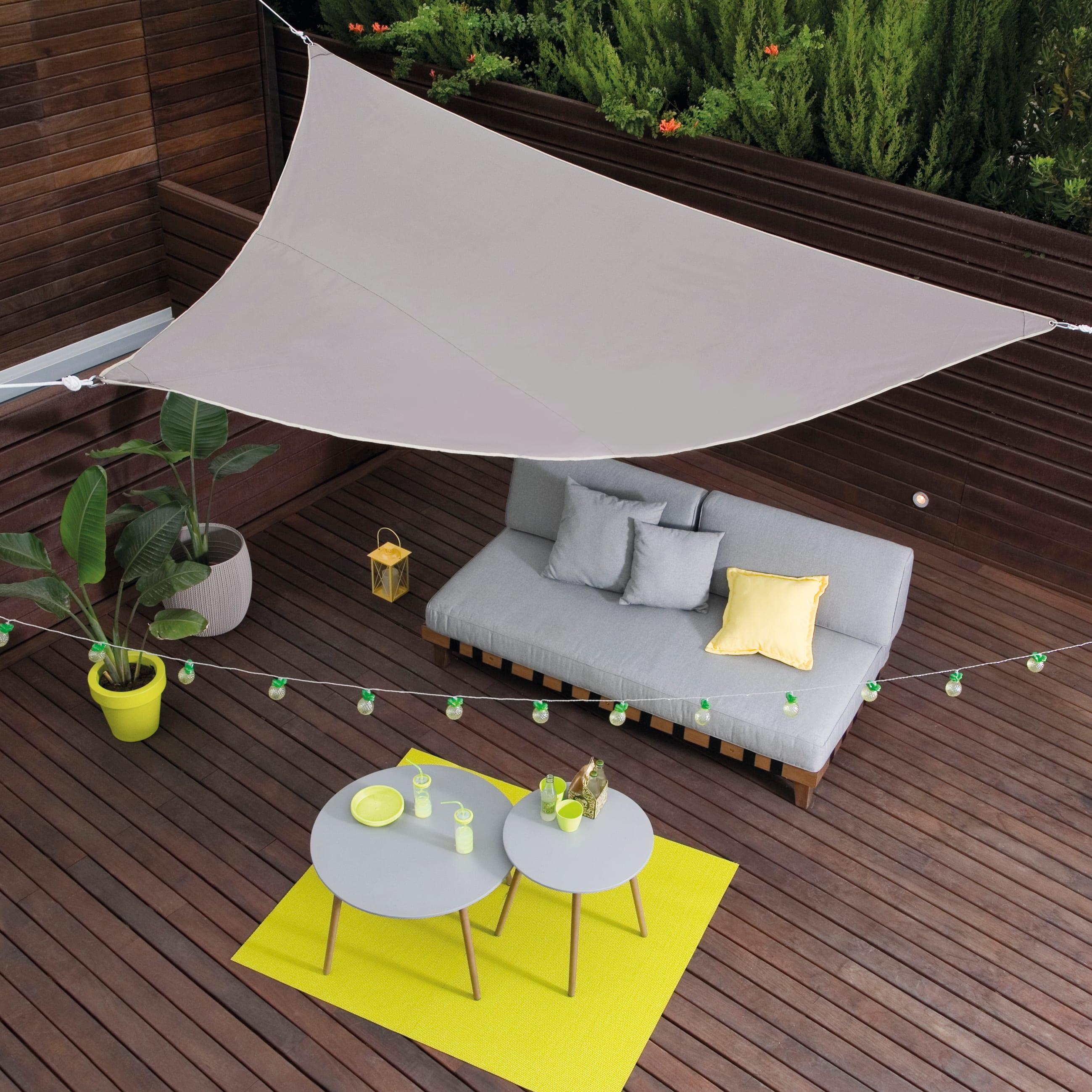 Vela Triangolare Da Giardino vela ombreggiante triangolare tortora 360 x 360 cm