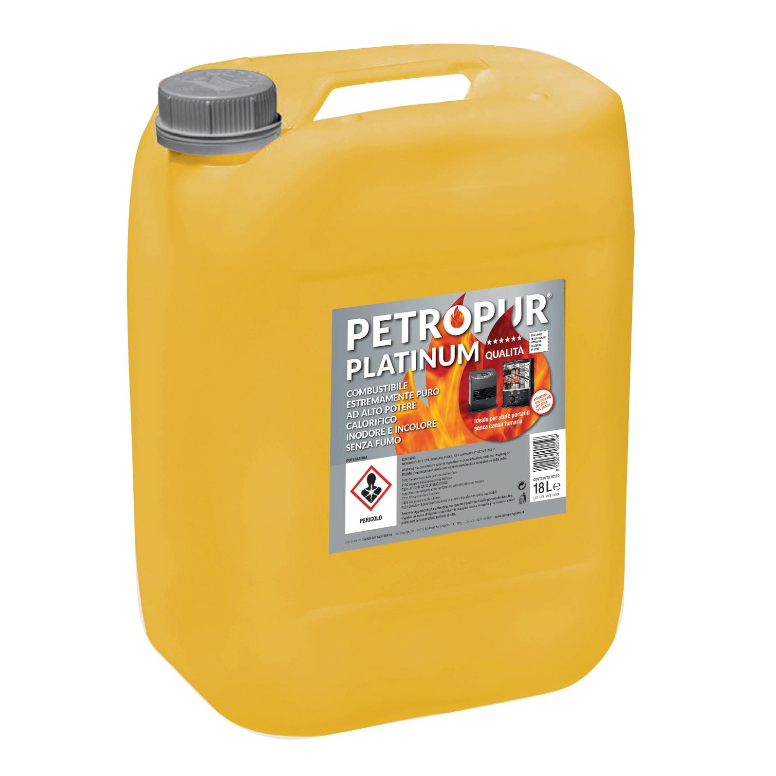 Stufe Petrolio Senza Canna Fumaria combustibile petropur platinum 18 l