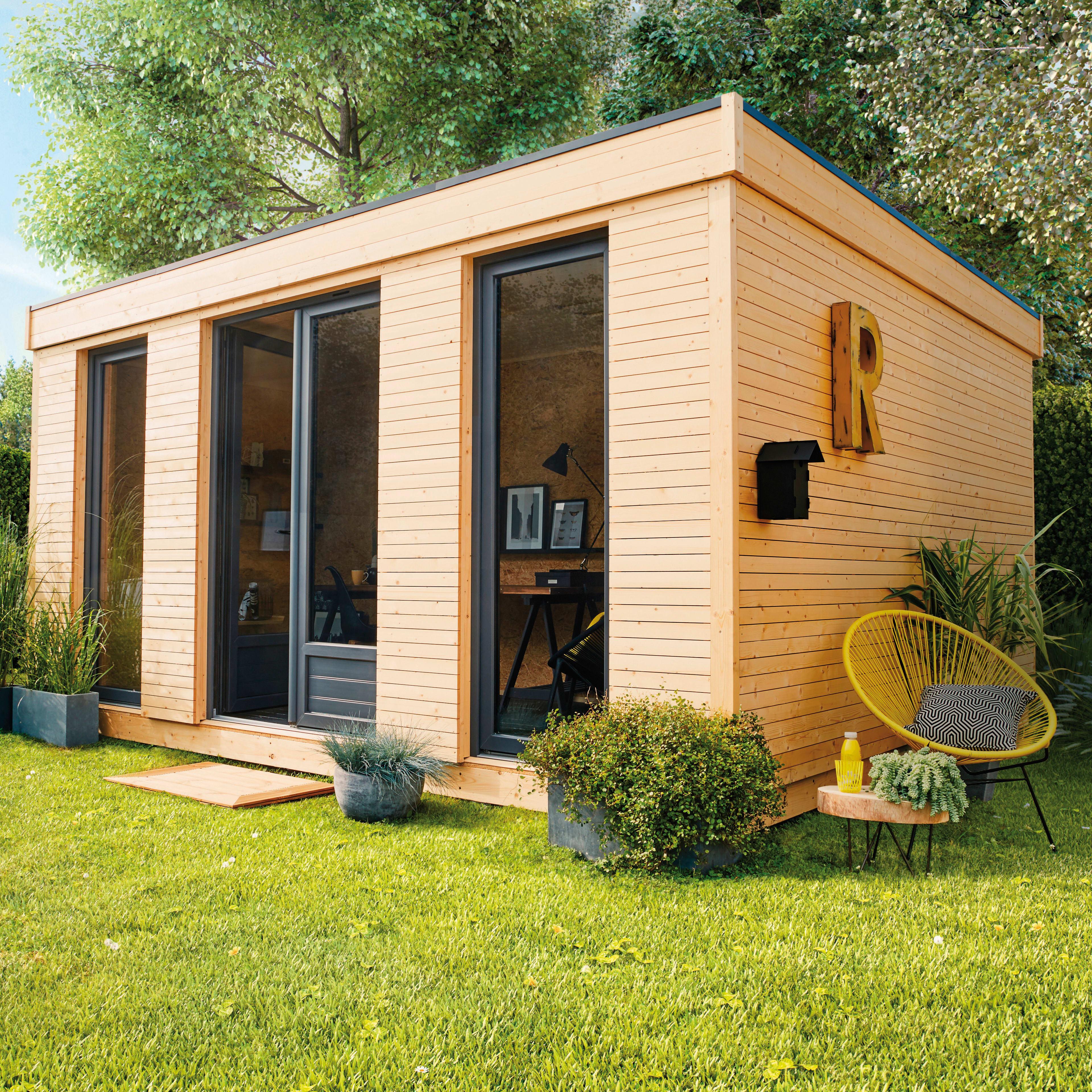 Casette In Legno Terrazzo Permessi casetta da giardino in legno decor home 21, superficie interna 21.34 m² e  spessore parete 19 mm