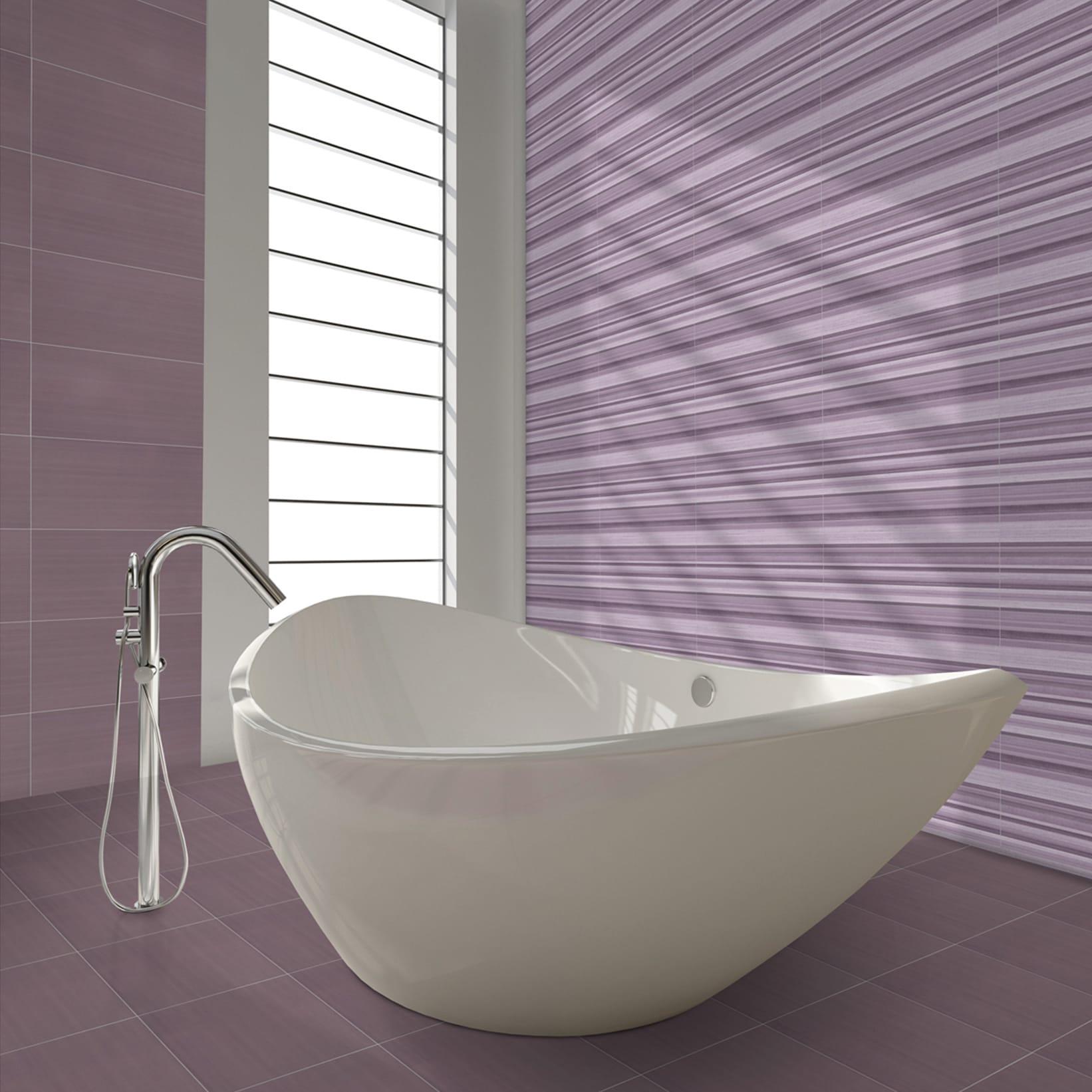 Piastrelle Bagno Mosaico Viola piastrella per rivestimenti kolor 30 x 60 cm sp. 10.3 mm viola