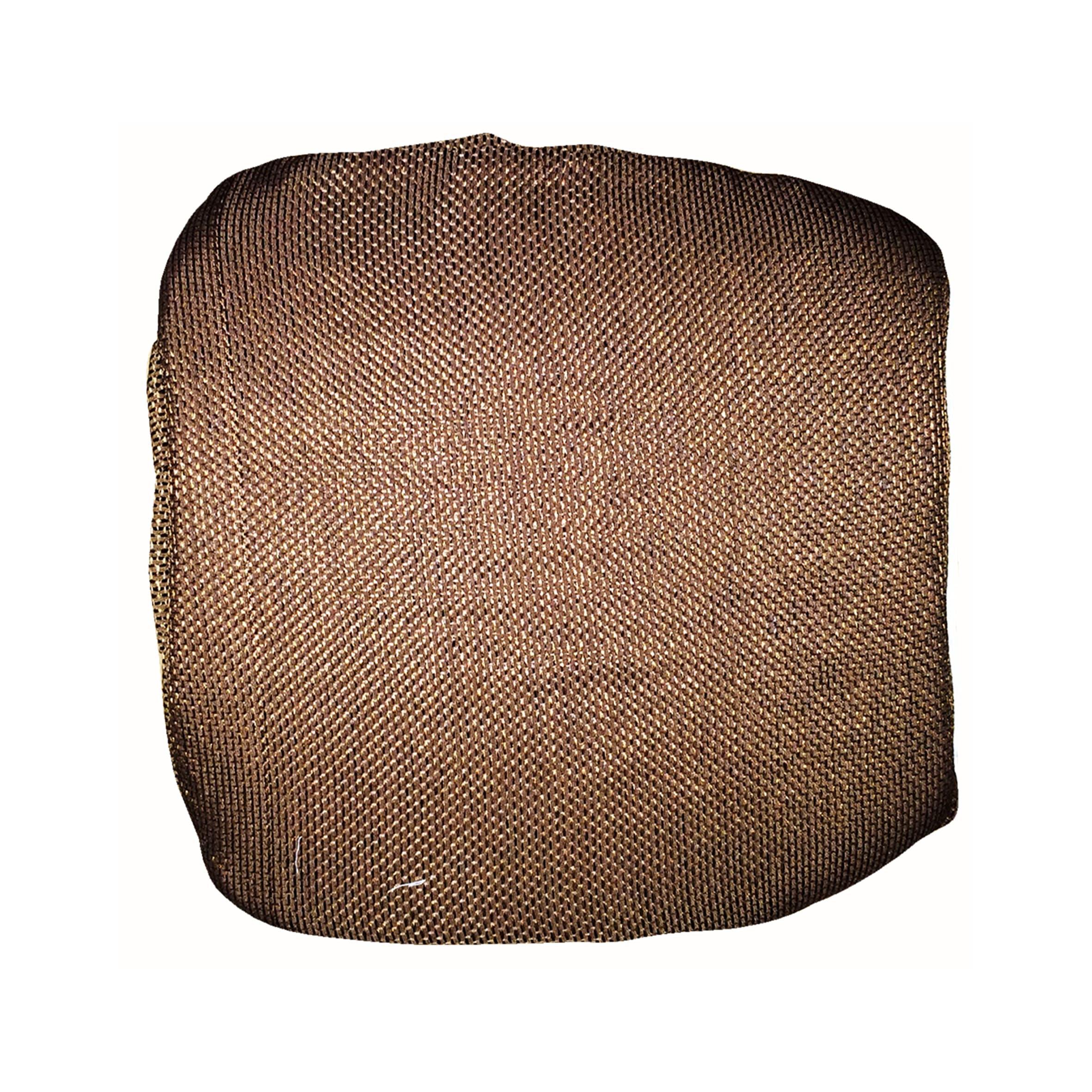 Cuscino per sedia con elastico Antonella marrone 40x40 cm