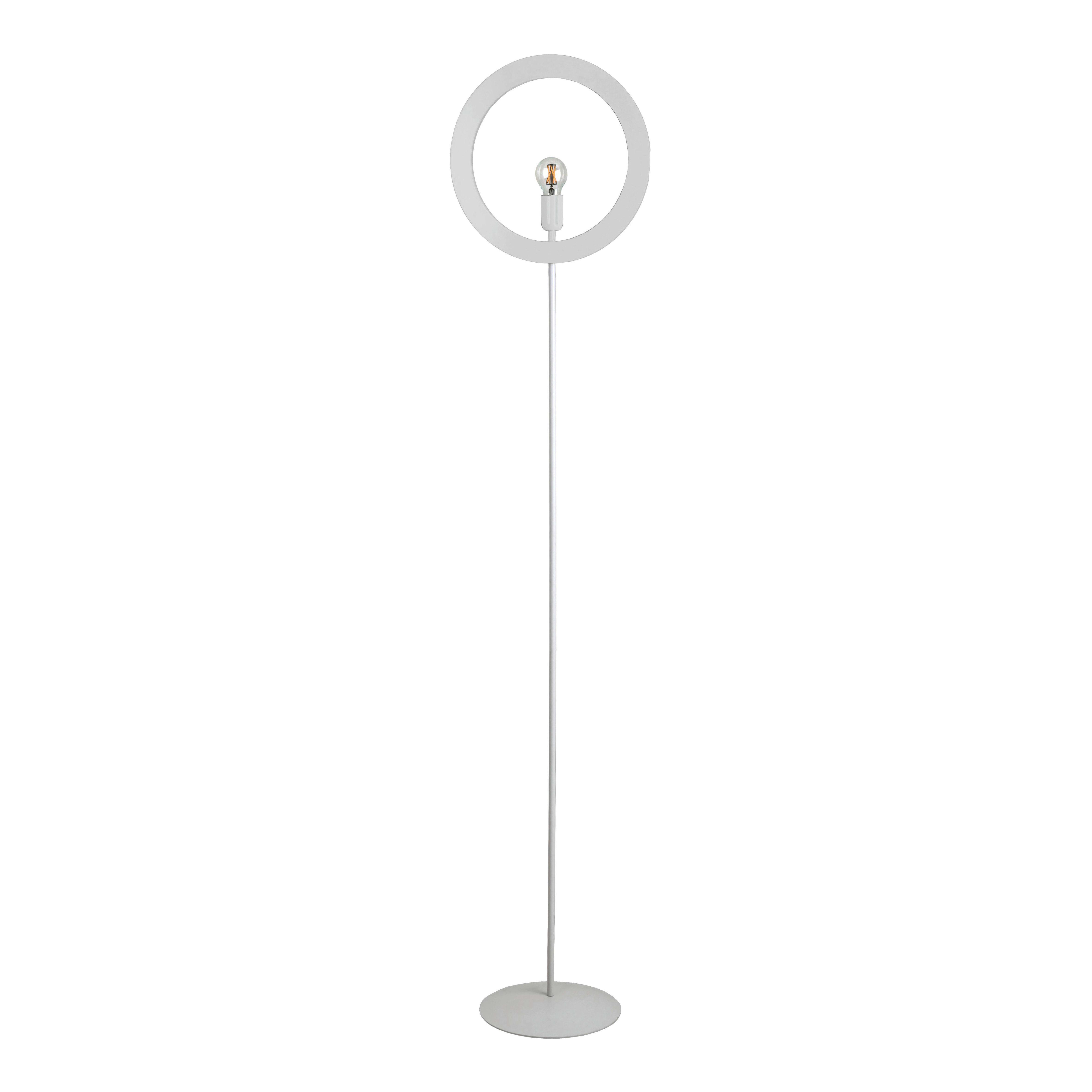 Finestra Oblò Leroy Merlin lampada da terra oblo' bianco, in ferro, h186cm, max42w
