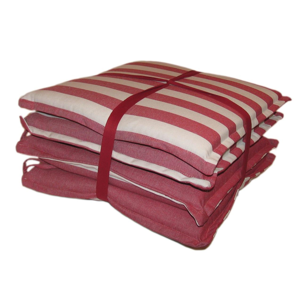 Cuscino per sedia Tinto filo kent rosso 40x40 cm