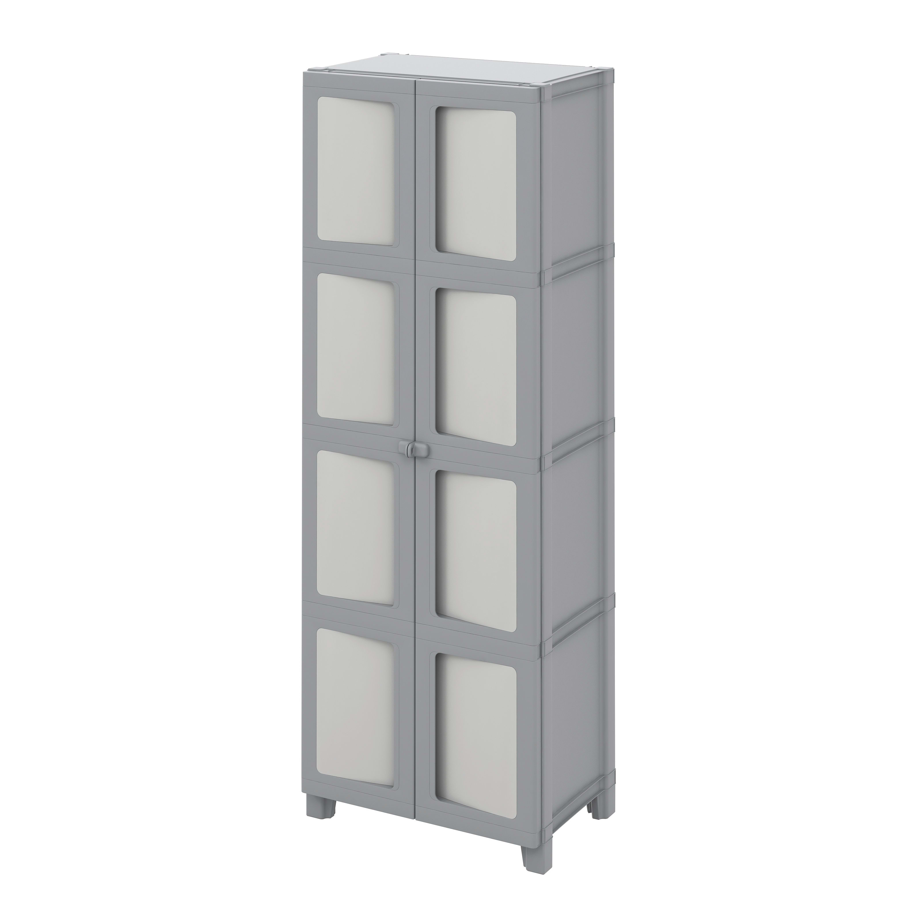 Armadio In Resina Spaceo.Armadio Modulize L 65 X P 40 X H 180 Cm Grigio Prezzo Online Leroy Merlin