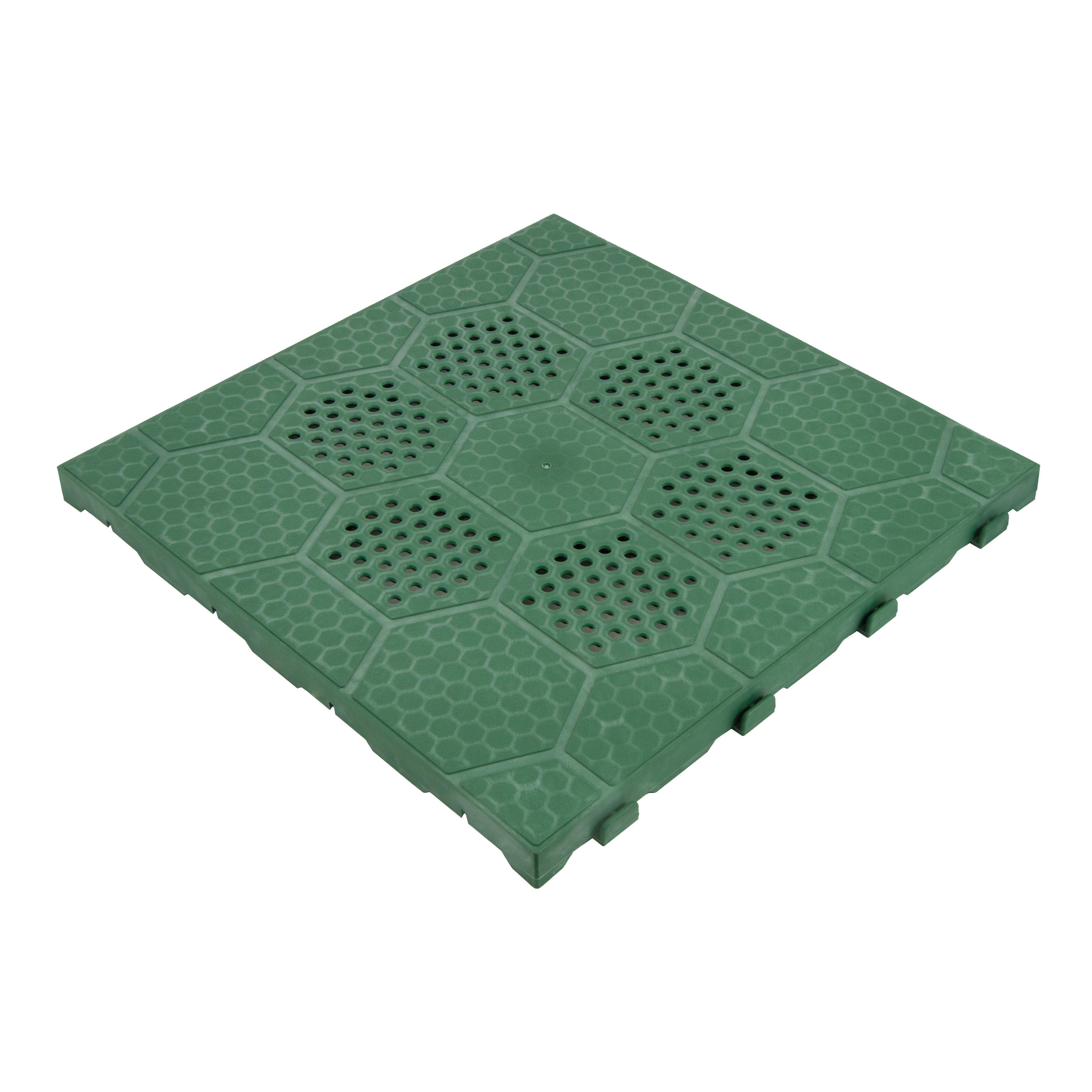 Piastrelle Plastica Giardino Leroy Merlin.Piastrelle Ad Incastro 40 X 40 Cm Sp 25 Mm Verde Prezzo Online Leroy Merlin