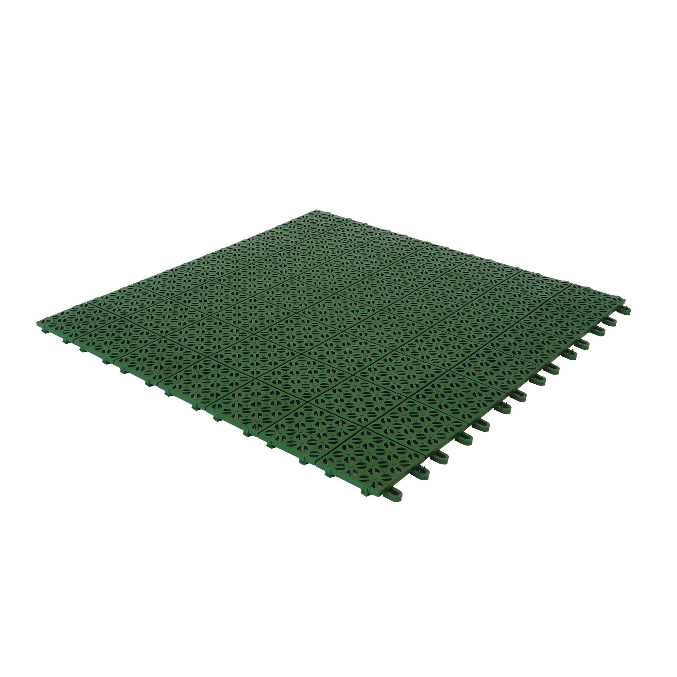 Piastrelle Da Esterno A Incastro piastrelle ad incastro multiplate 56 x 56 cm sp 10 mm, verde