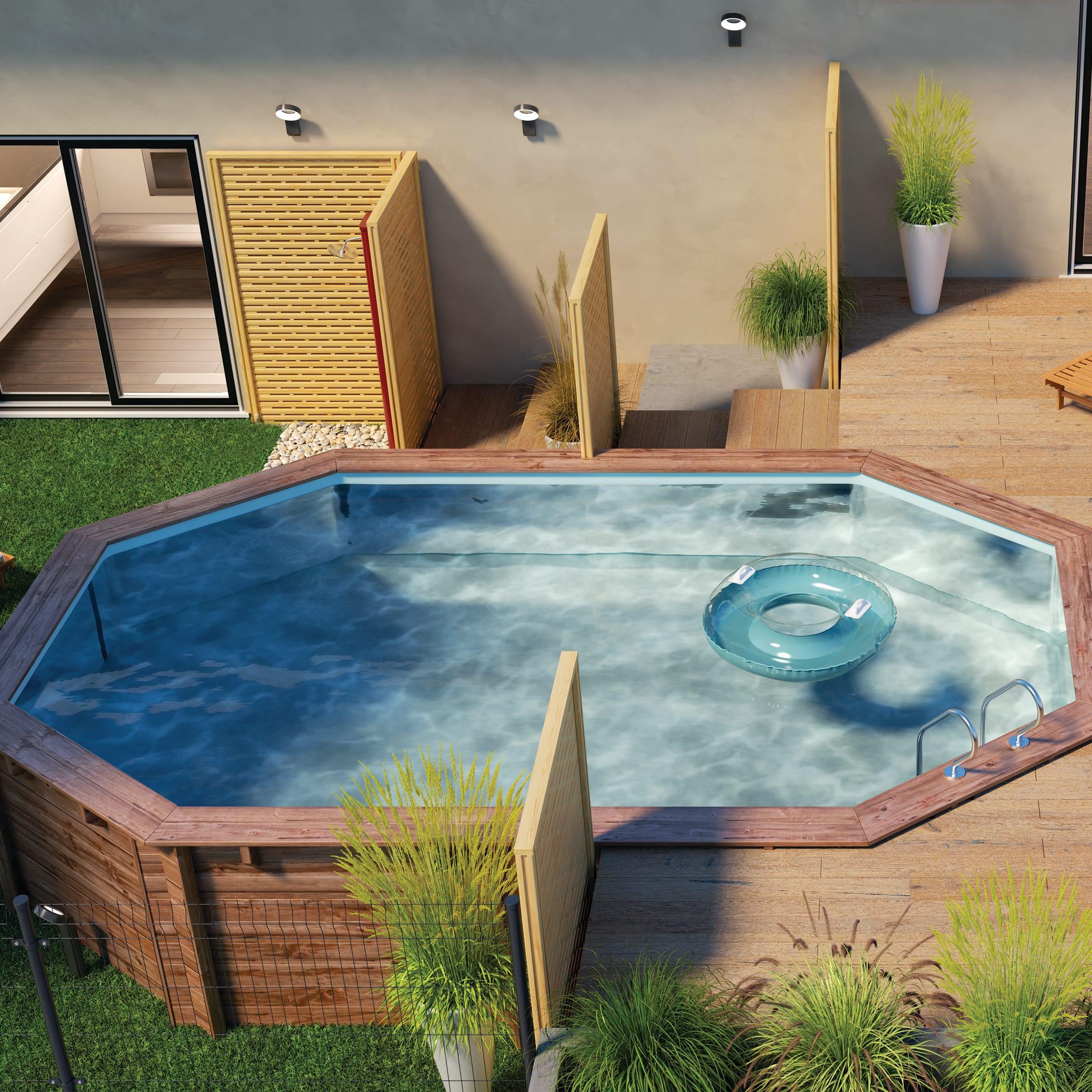 Finestra Oblò Leroy Merlin piscina fuori terra ovale autoportante gre 790087 303 x 503 cm