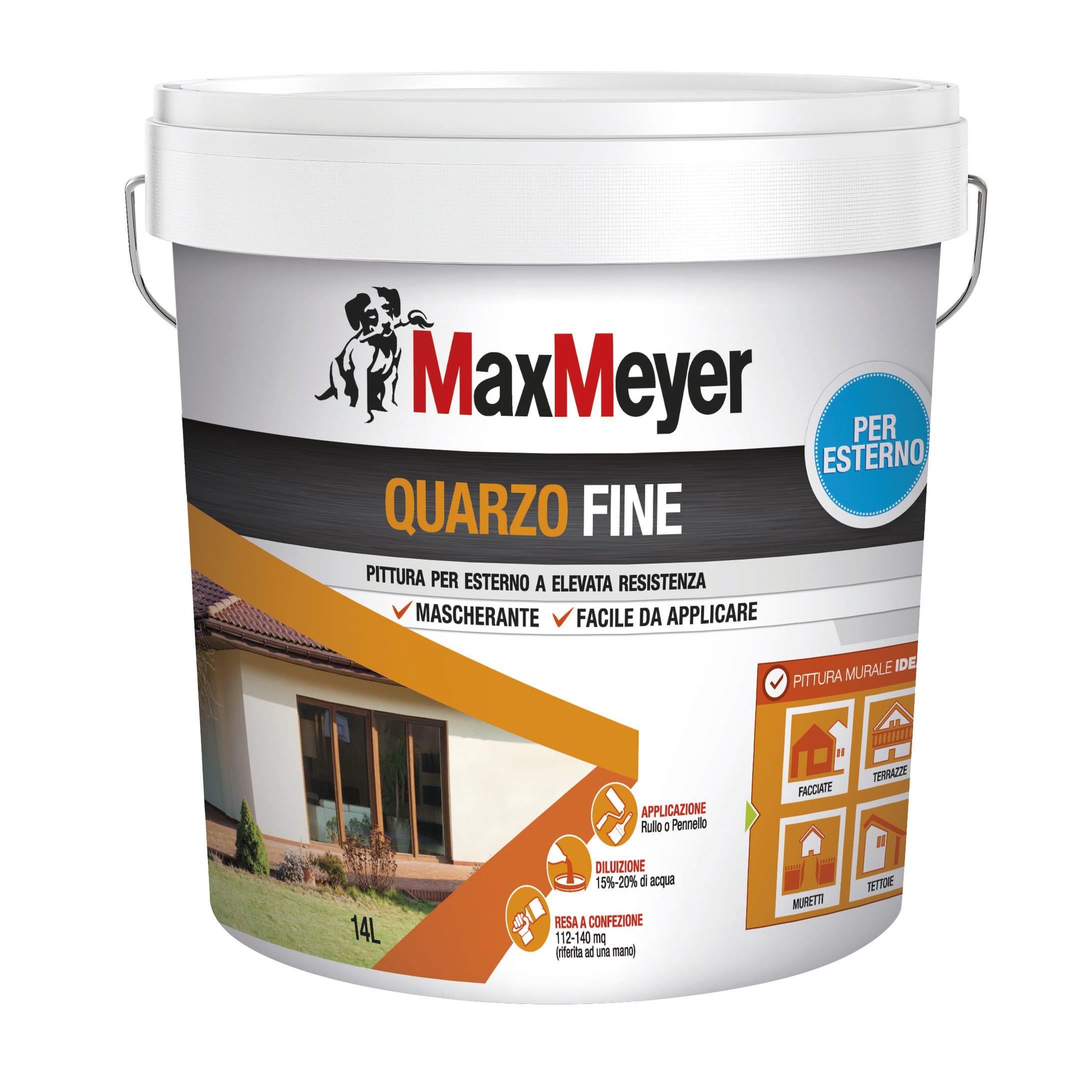 Migliore Pittura Per Interni pittura al quarzo maxmeyer fine bianco 14 l