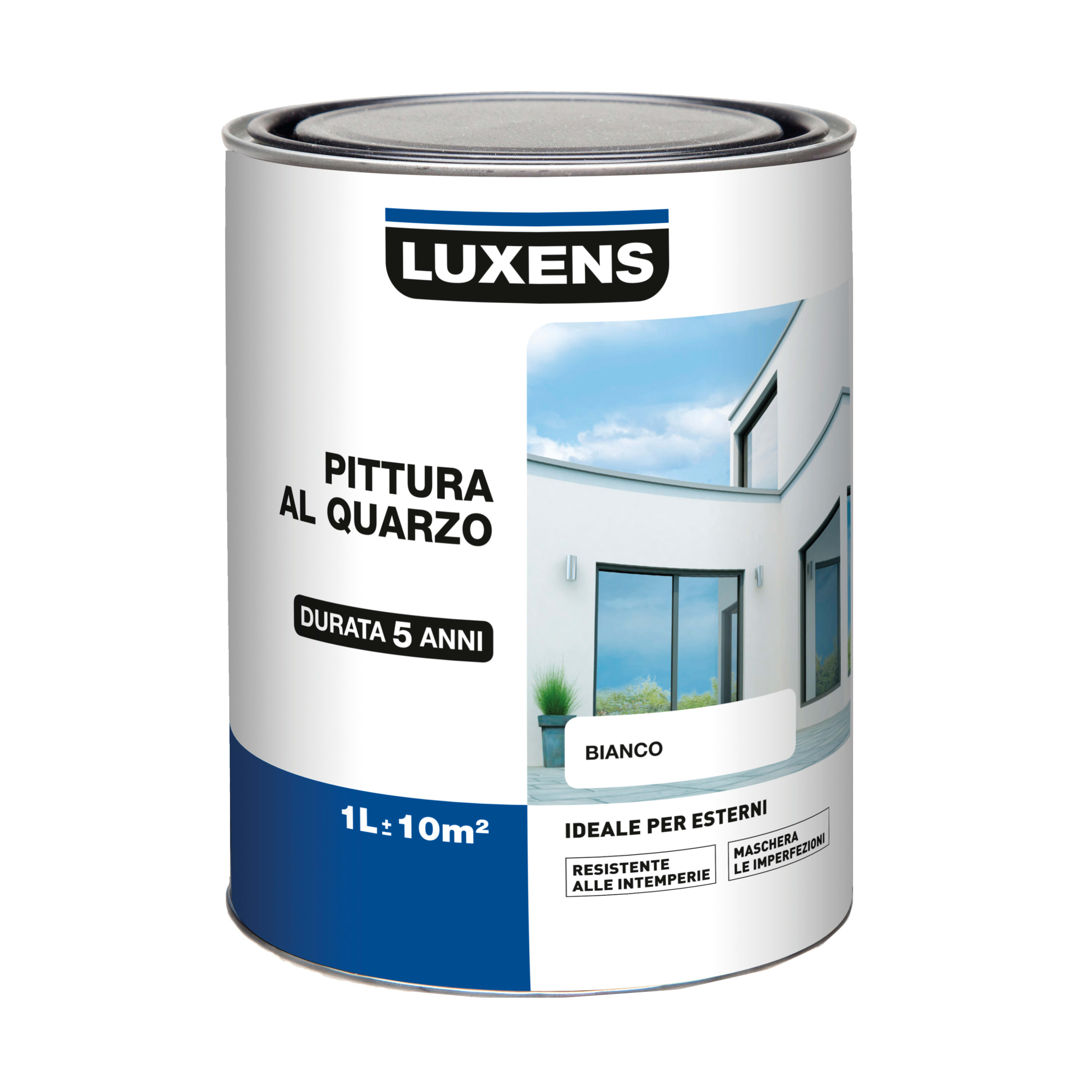 Migliore Marca Pittura Per Esterni pittura acrilica per facciate luxens al quarzo bianco 1 l