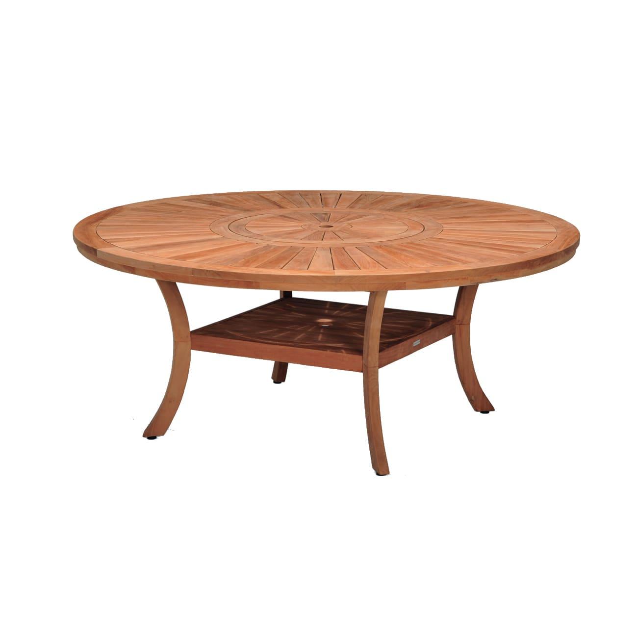 Tavolo Da Giardino Rotondo Australia Con Piano In Legno O 180 Cm Prezzo Online Leroy Merlin