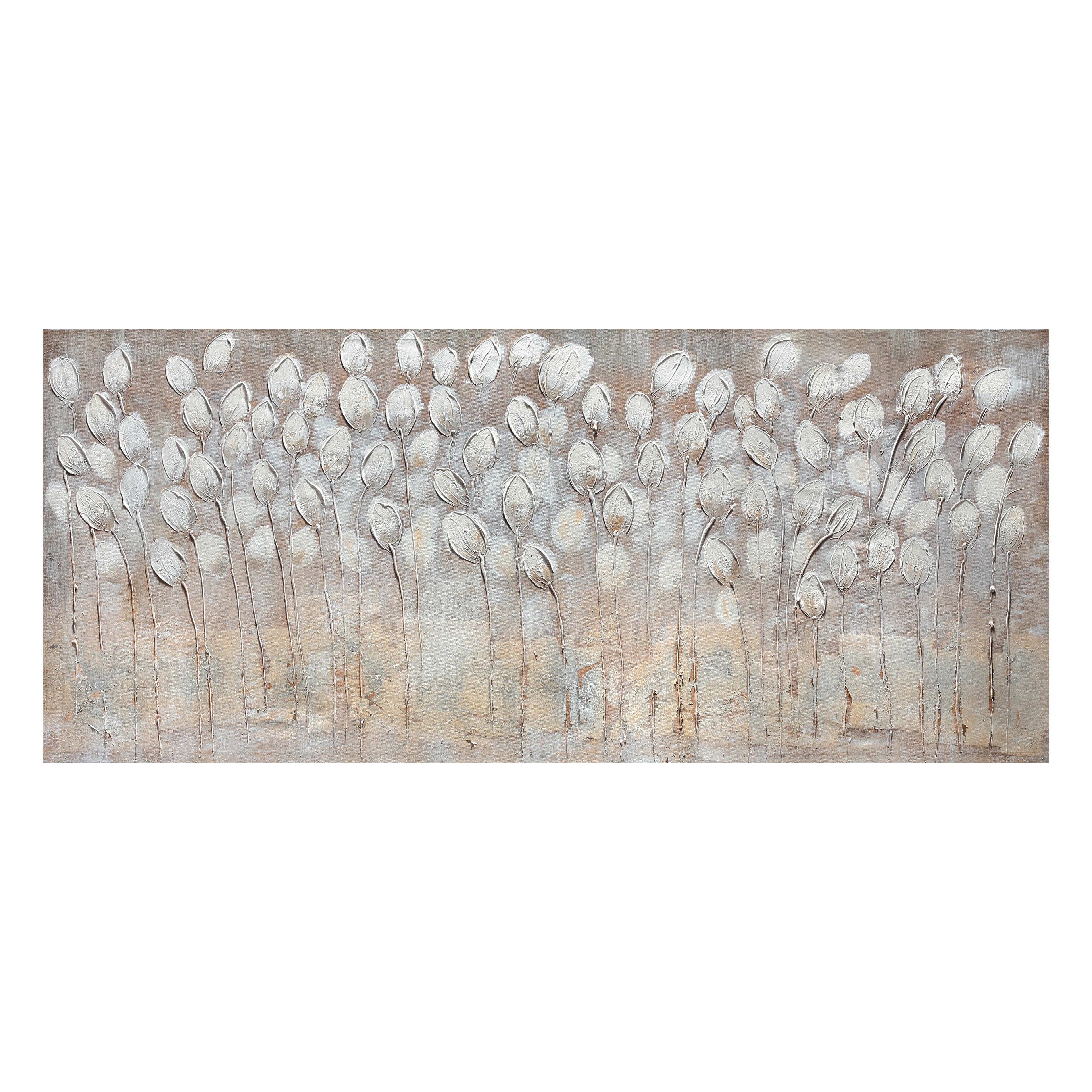 Quadri Cucina Leroy Merlin quadro dipinto a mano tulipani bianchi 150x65 cm