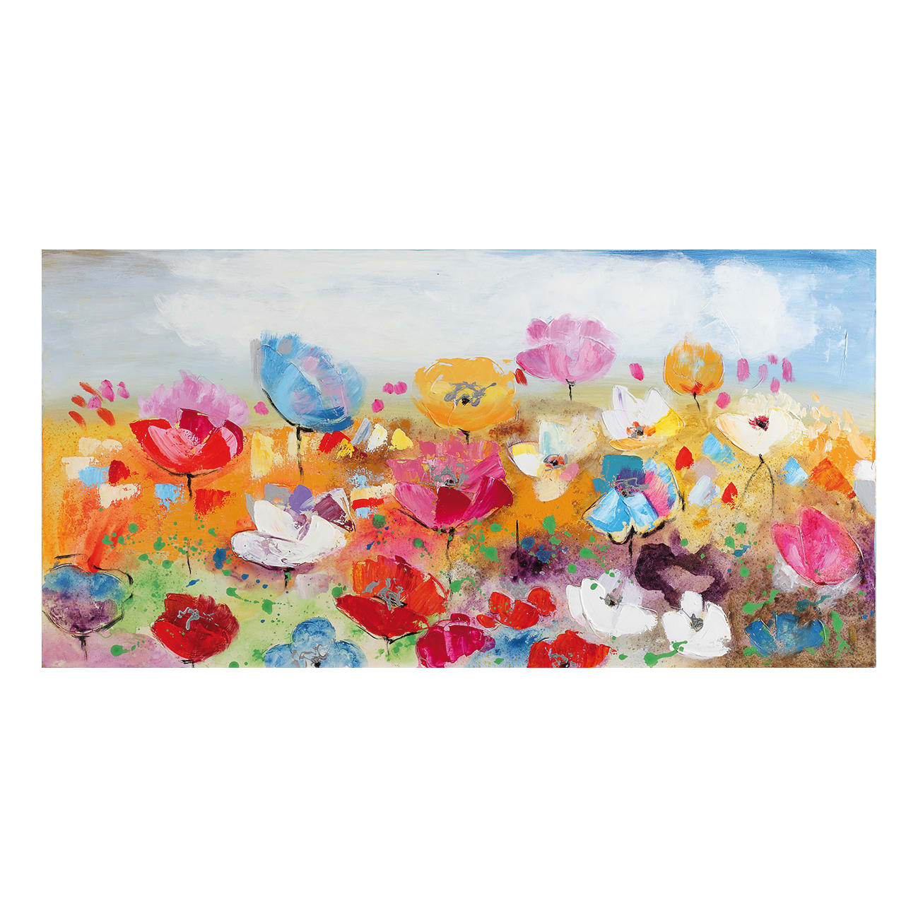 Quadri Cucina Leroy Merlin quadro dipinto a mano fiori misti 120x60 cm
