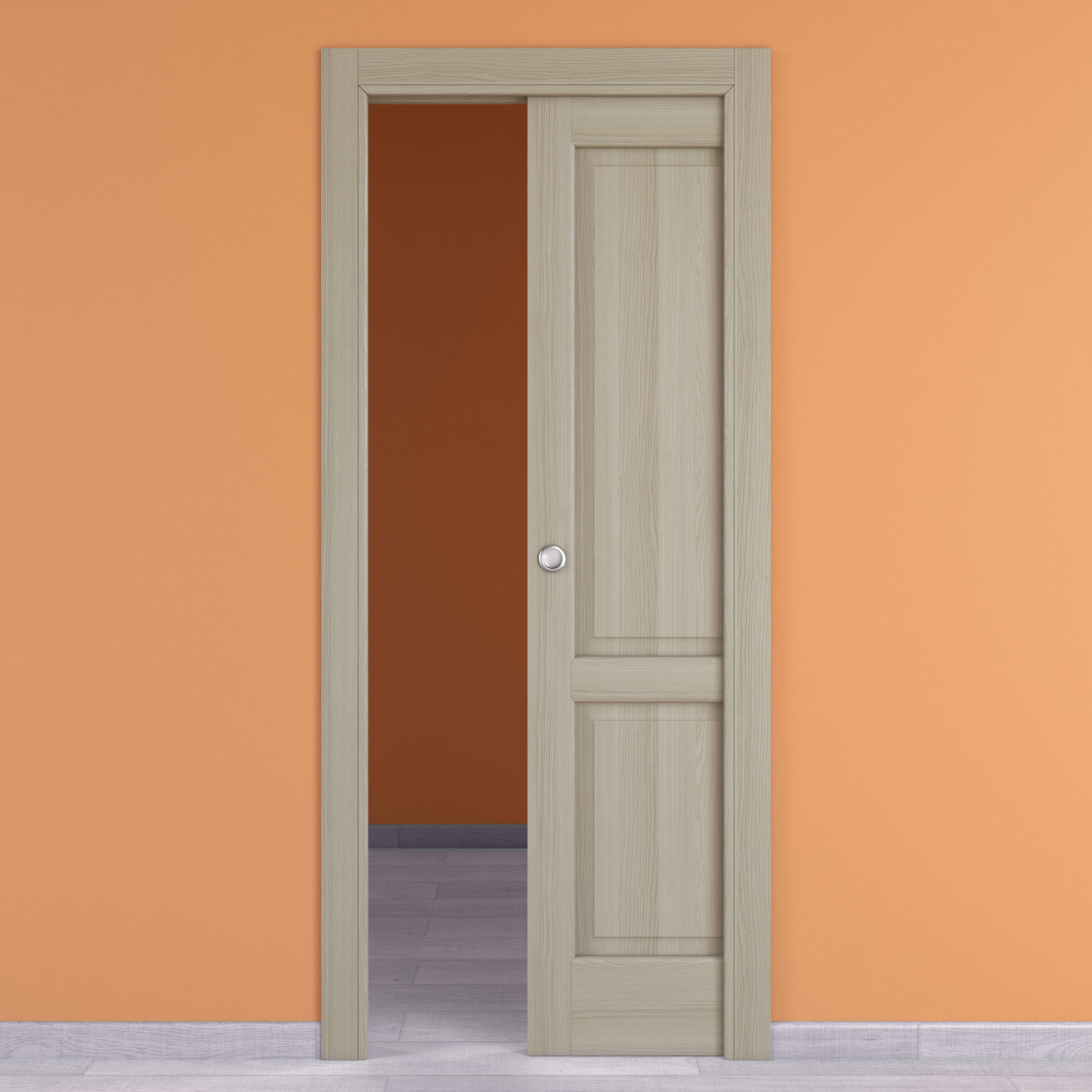 Porte Rovere Sbiancato Spazzolato porta scorrevole a scomparsa vermeer rovere sbiancato l 70 x h 210 cm destra