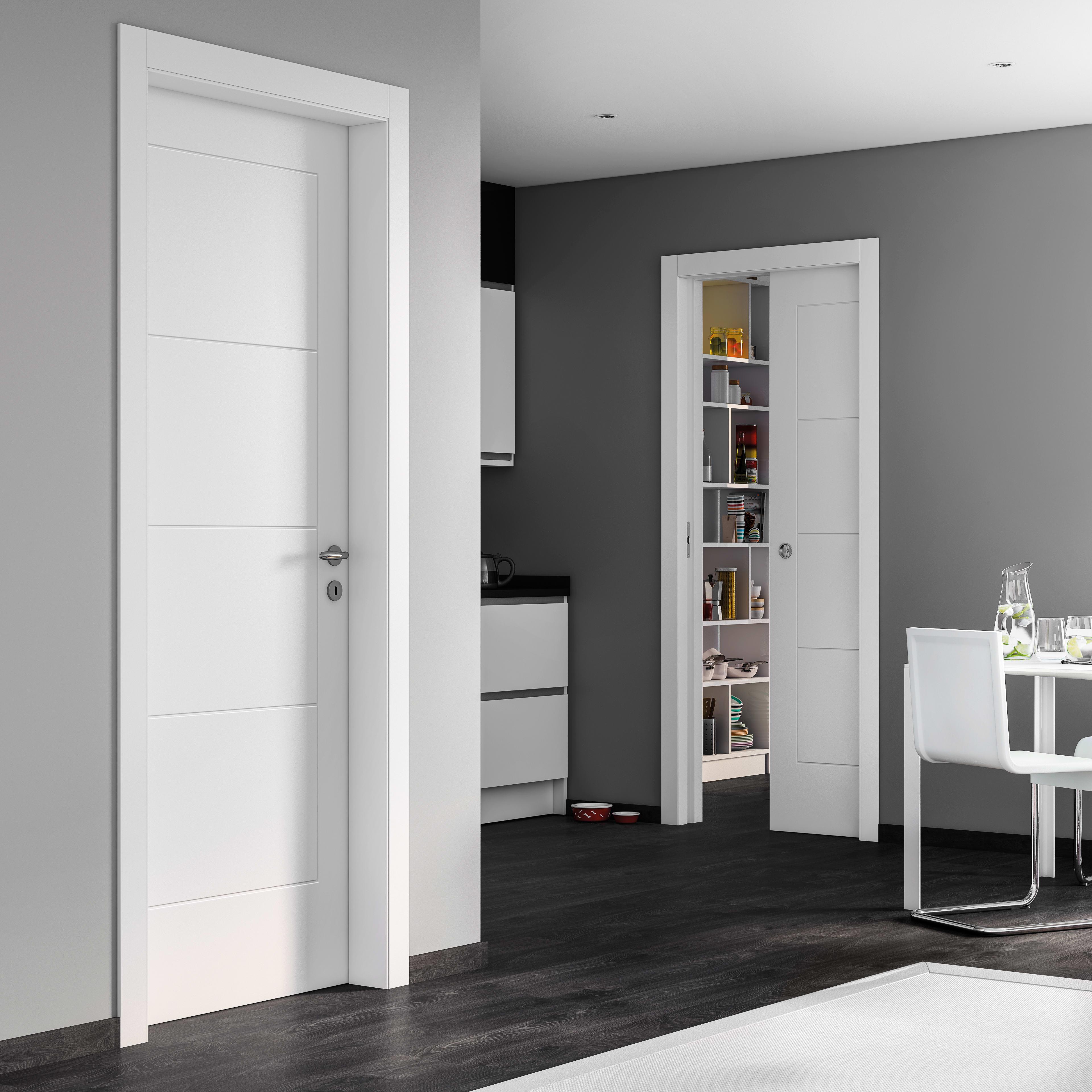Porte Bianche Laccate Prezzi porta a battente ribera bianco l 80 x h 210 cm destra