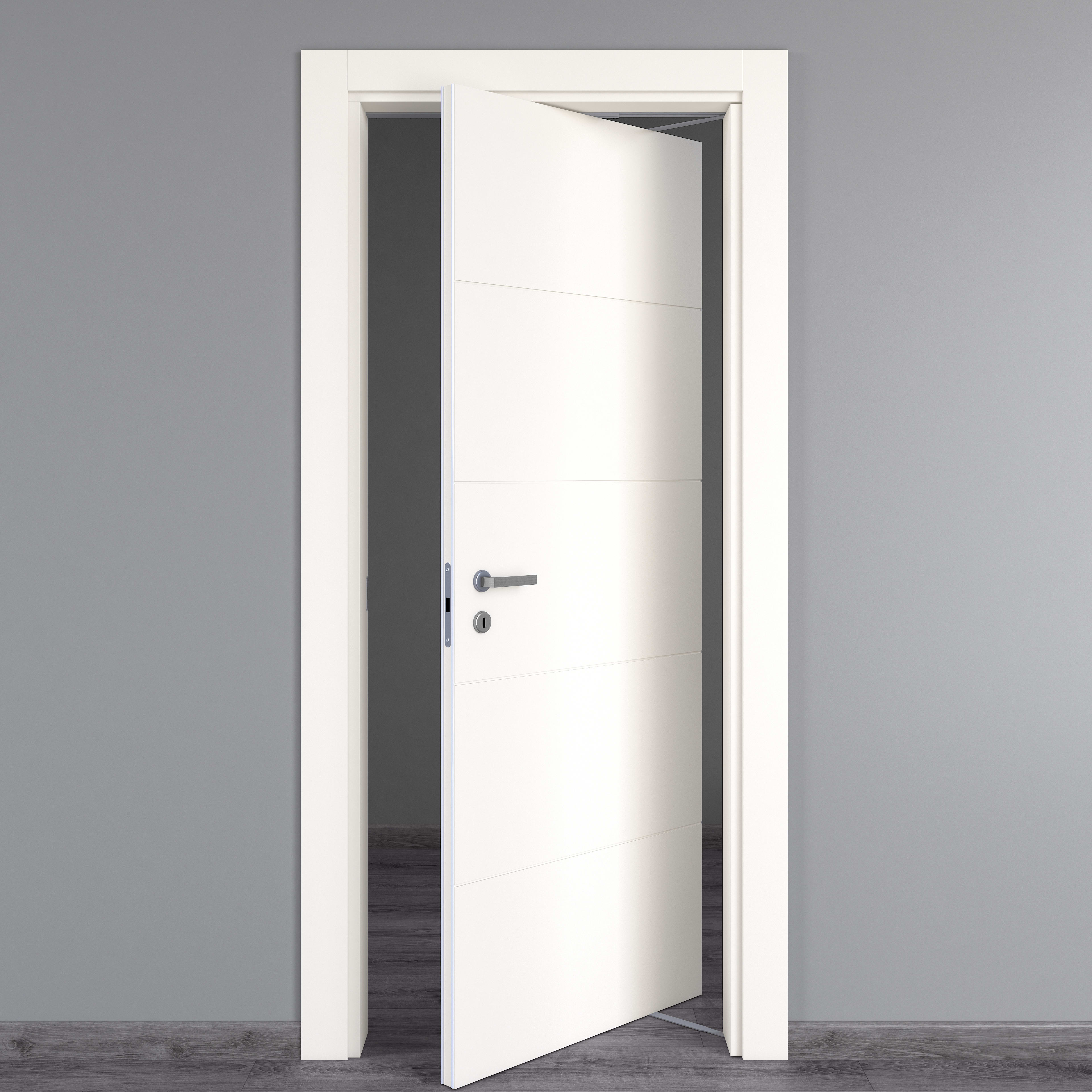 Porte Bianche Laccate Prezzi porta rototraslante prado bianco l 80 x h 210 cm destra