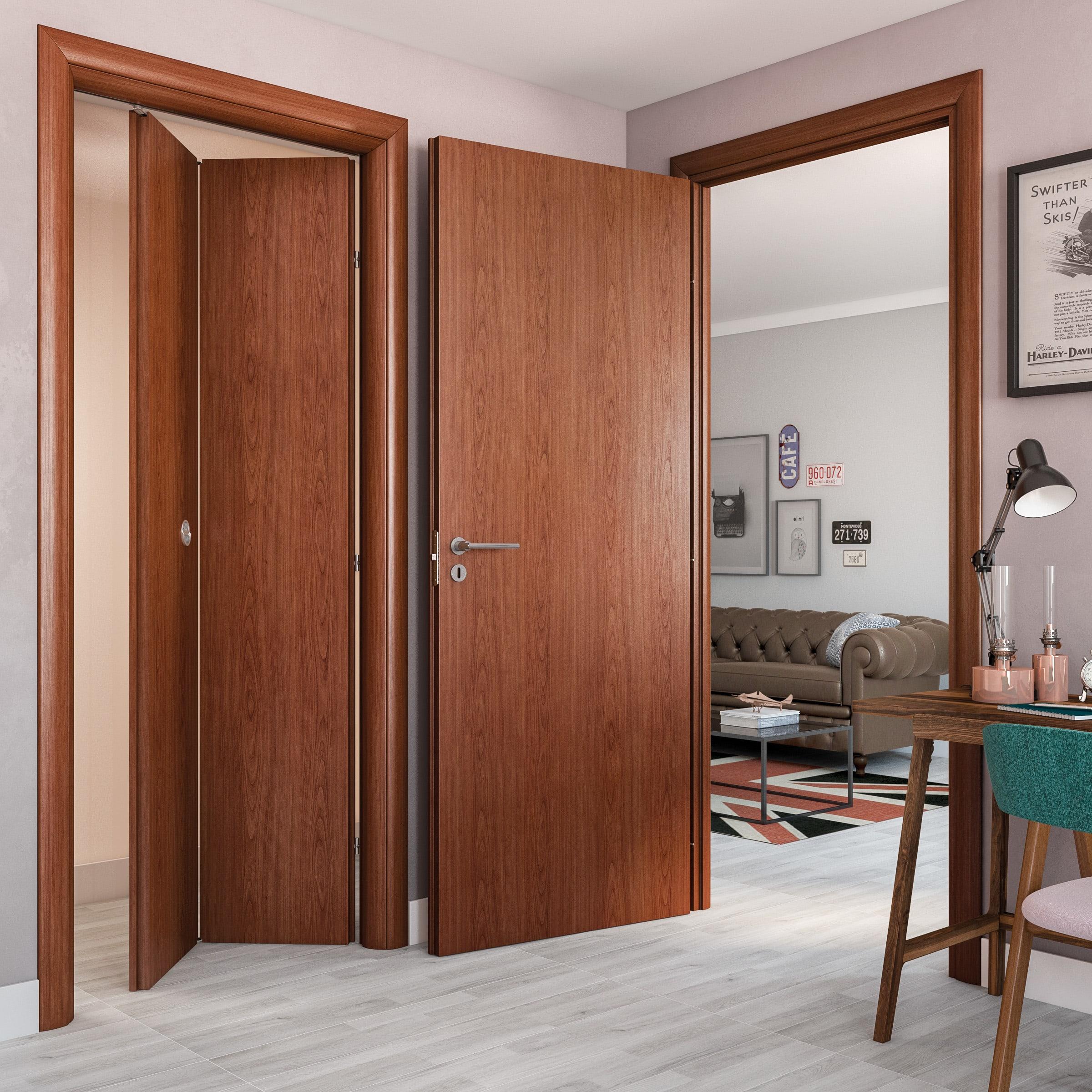 Porte Interne Color Ciliegio porta a battente rose ciliegio l 80 x h 210 cm reversibile