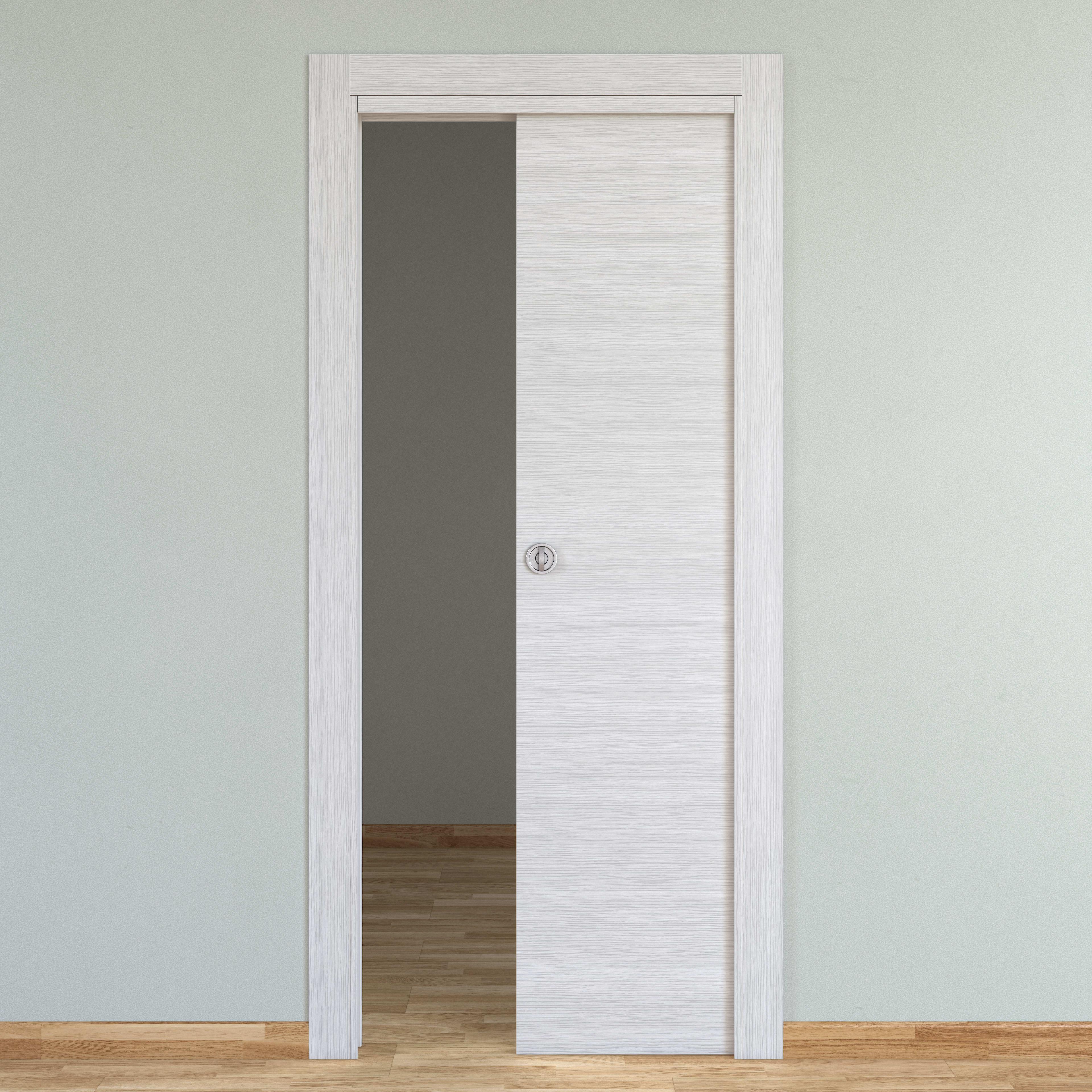 Porta Scrigno 60 Cm porta scorrevole a scomparsa pigalle palissandro bianco l 60 x h 210 cm  reversibile