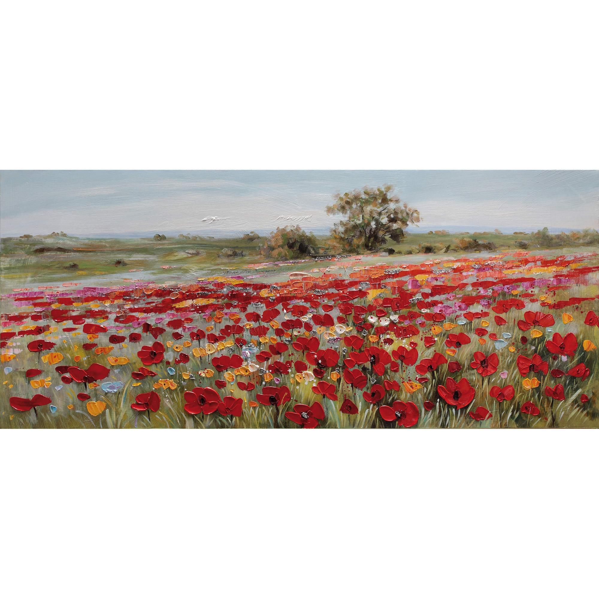 Quadri Cucina Leroy Merlin quadro dipinto a mano campo fiori 150x65 cm