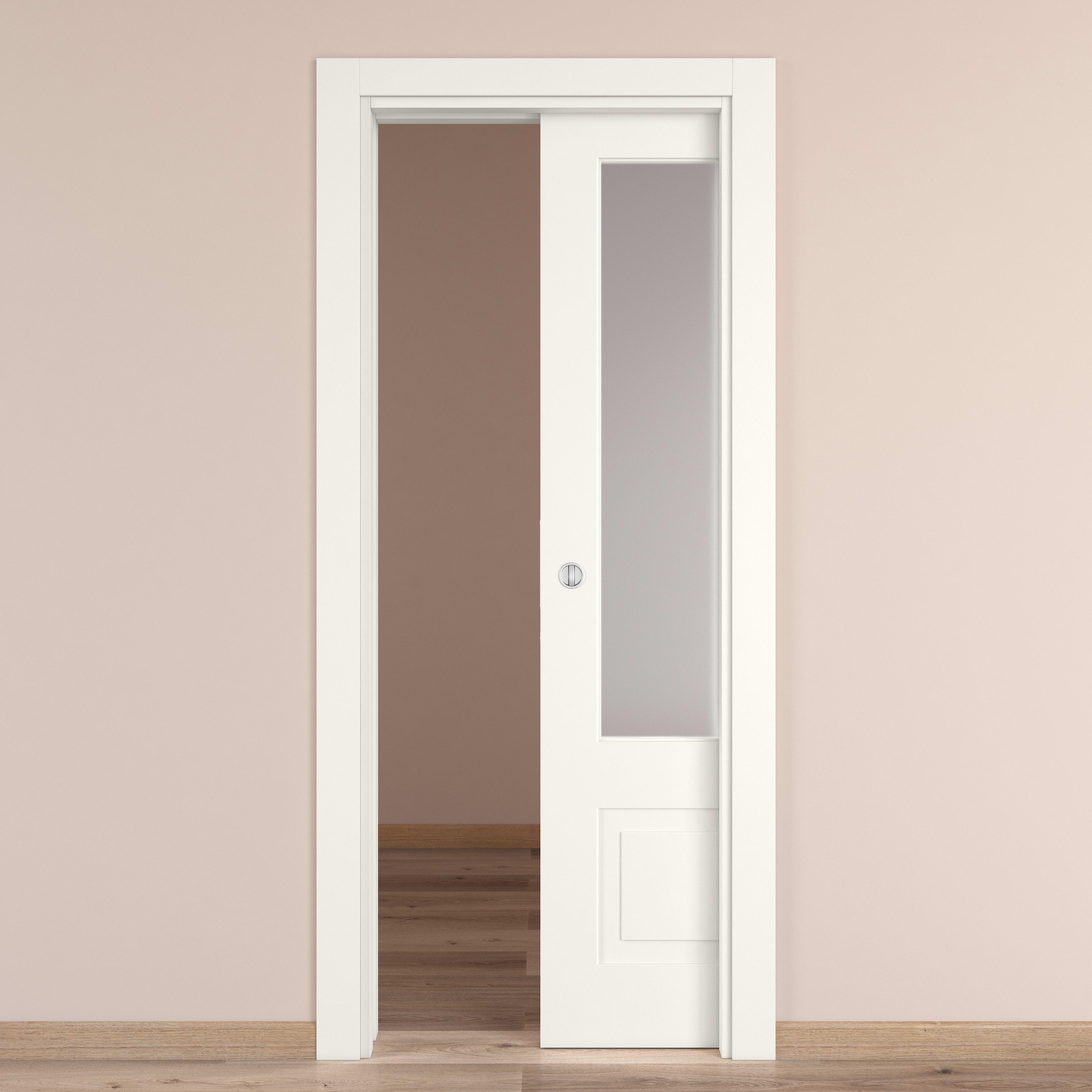 Porta Scrigno 60 Cm porta scorrevole a scomparsa shibuya vetro bianco l 80 x h 210 cm  reversibile