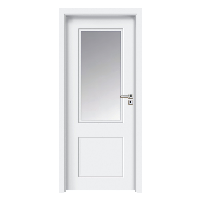 Porta A Soffietto Bianca porta a battente samui vetrata bianco l 80 x h 210 cm destra
