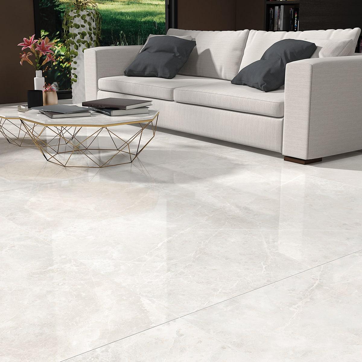 Pavimento Finto Marmo Lucido piastrella marmi 60 x 120 cm sp. 10.5 mm pei 4/5 grigio