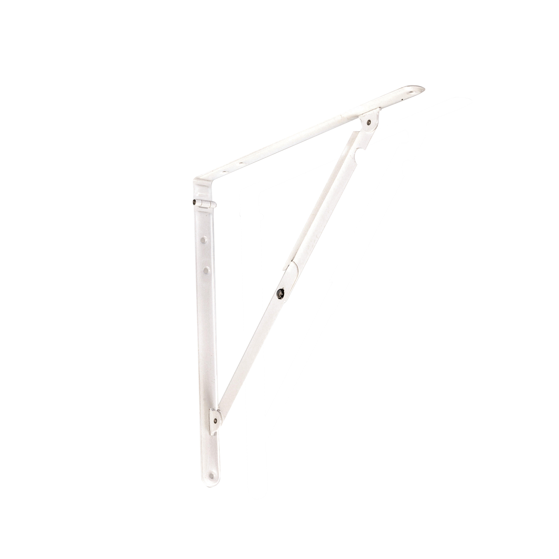 Staffe Per Mensole Richiudibili.Staffa Ribaltabile Pieghevole L 30 X H 30 Cm Bianco Prezzi E