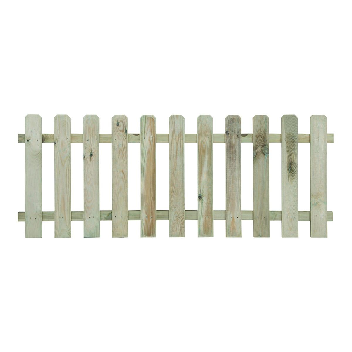 Staccionata Bianca In Legno recinzione dritta in legno l 180 x h 70 x p 4.6 cm