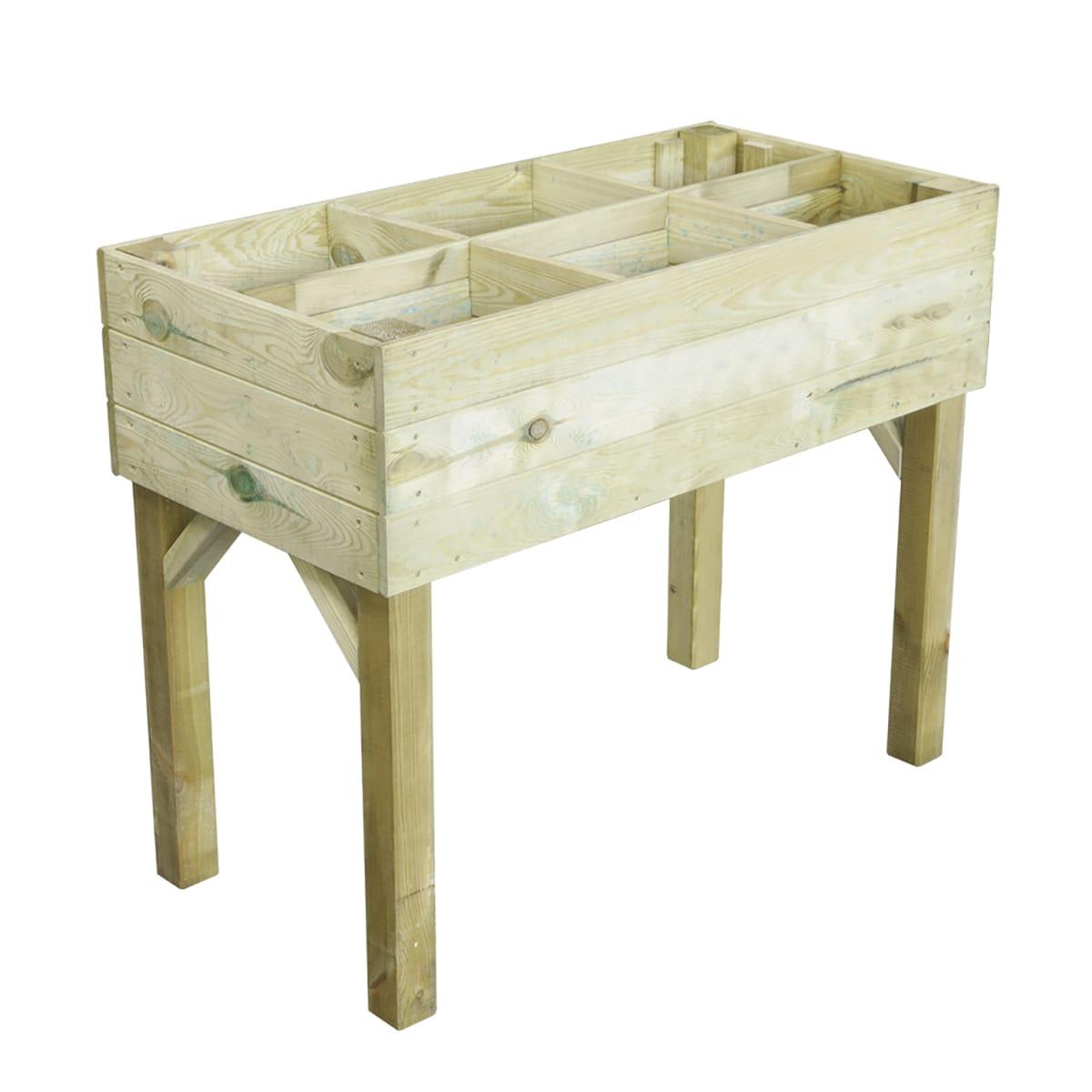 Leroy Merlin Fioriere Da Balcone fioriera per orto in legno l 100 x p 50 x h 80 cm