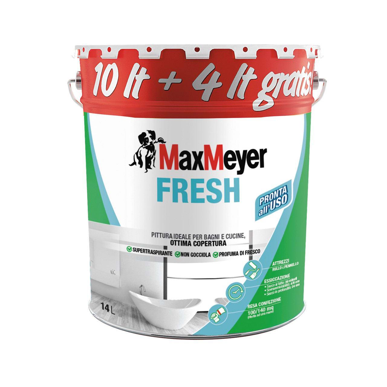 Pittura Murale Fresh Maxmeyer 14 L Bianco Prezzo Online Leroy Merlin