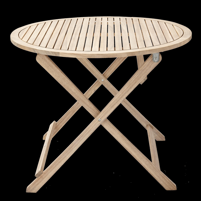 Tavolo Da Giardino Rotondo Solis Naterial Con Piano In Legno O 90 Cm Prezzo Online Leroy Merlin