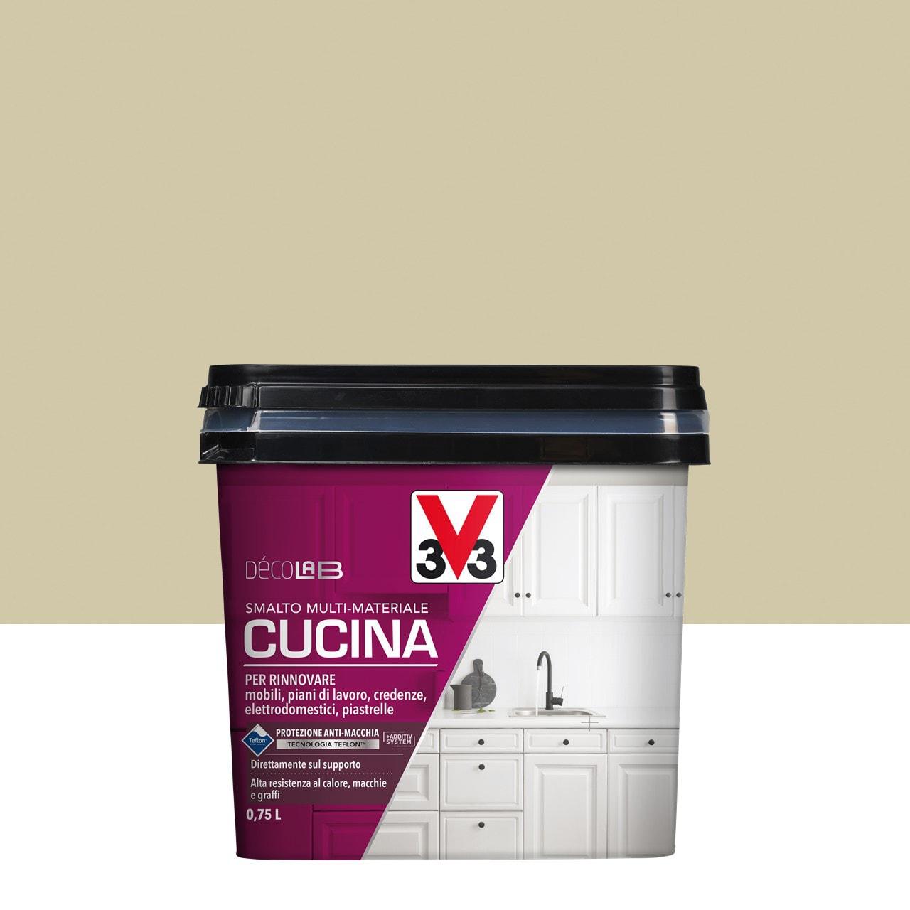 Pittura Resistente Ai Graffi smalto mobile cucina v33 0.75 l argilla