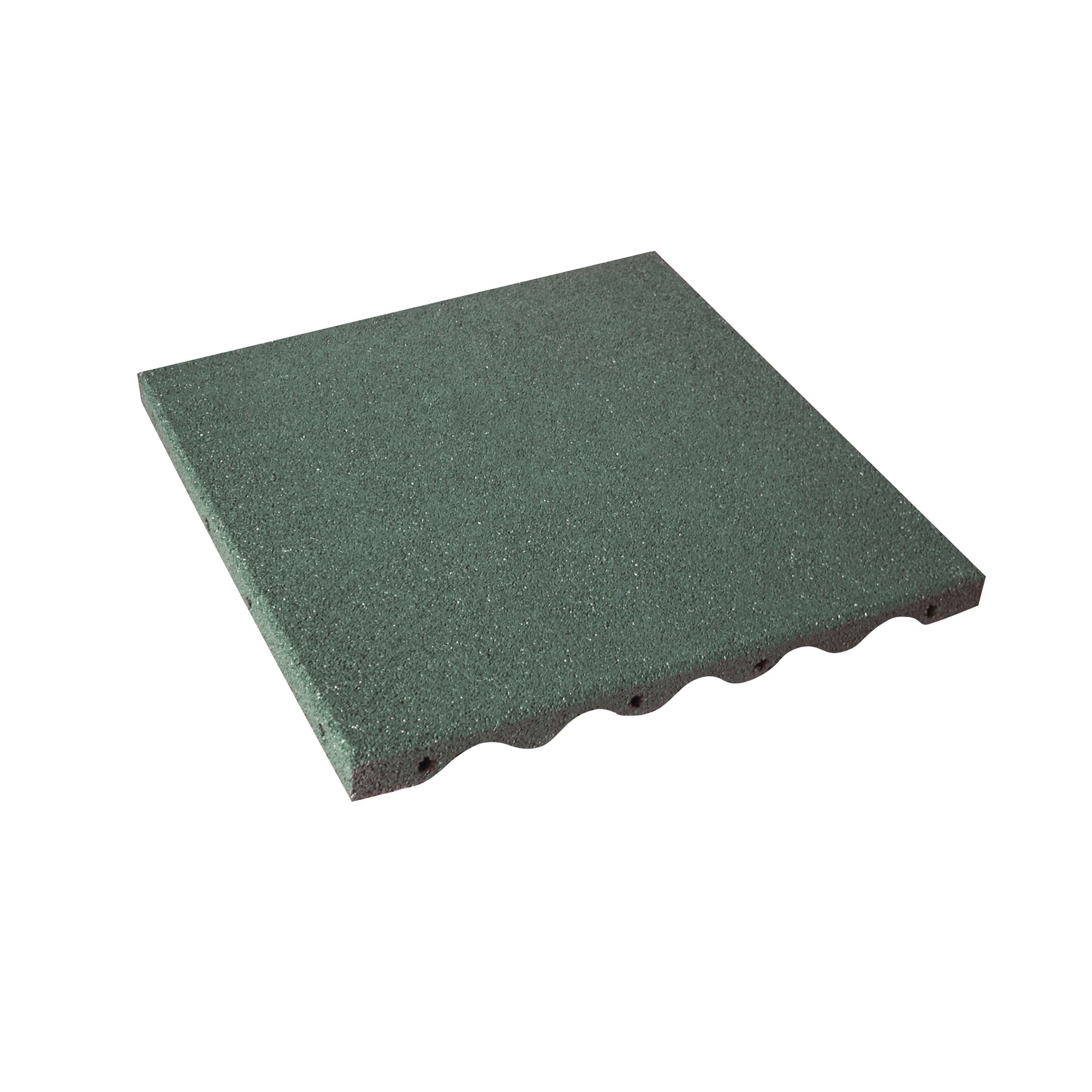 Piastrelle Plastica Giardino Leroy Merlin.Piastrelle Ad Incastro In Caucciu 50 X 50 Cm Sp 35 Mm Verde Prezzo Online Leroy Merlin