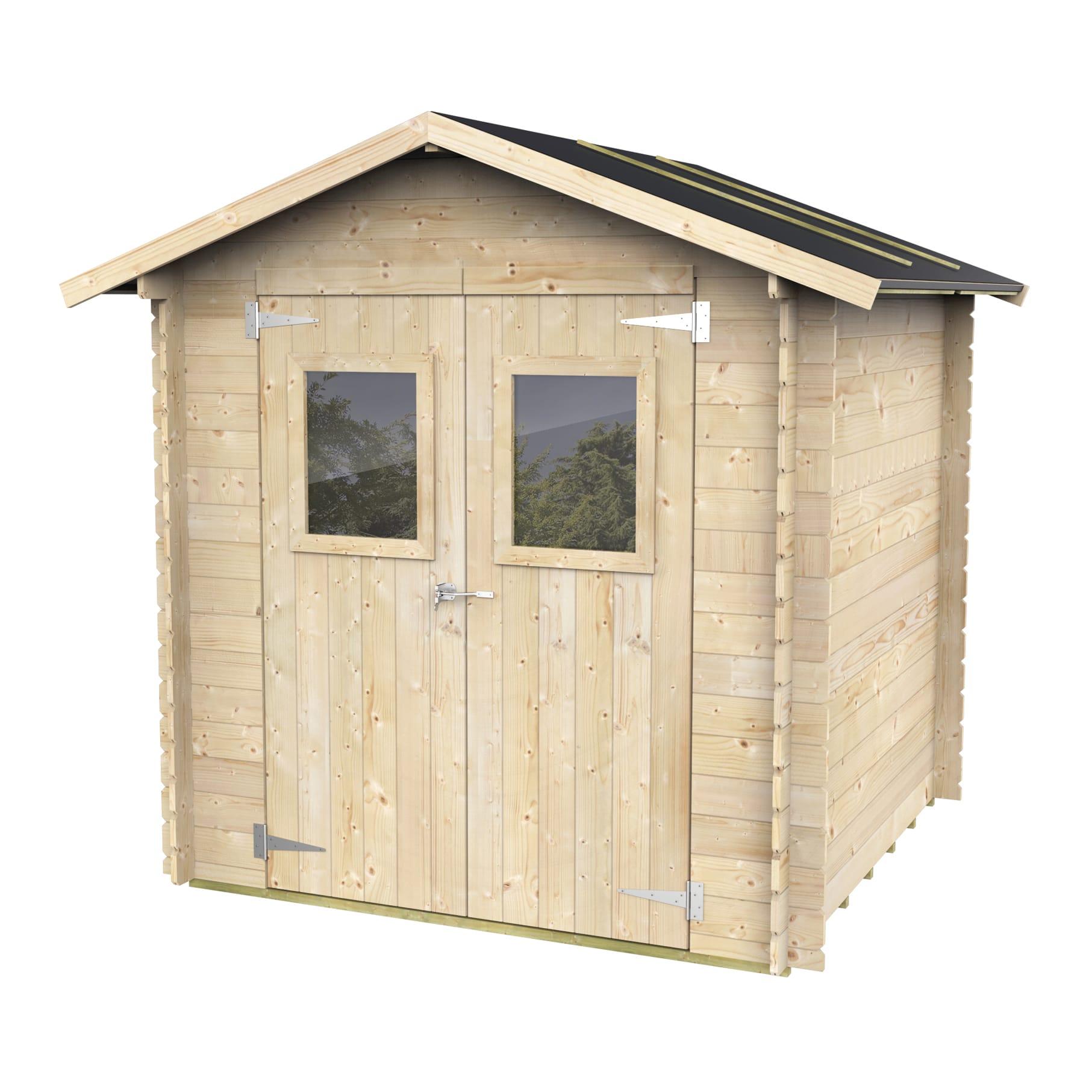 Casette In Legno Terrazzo Permessi casetta da giardino in legno calla, superficie interna 3.03 m² e spessore  parete 19 mm