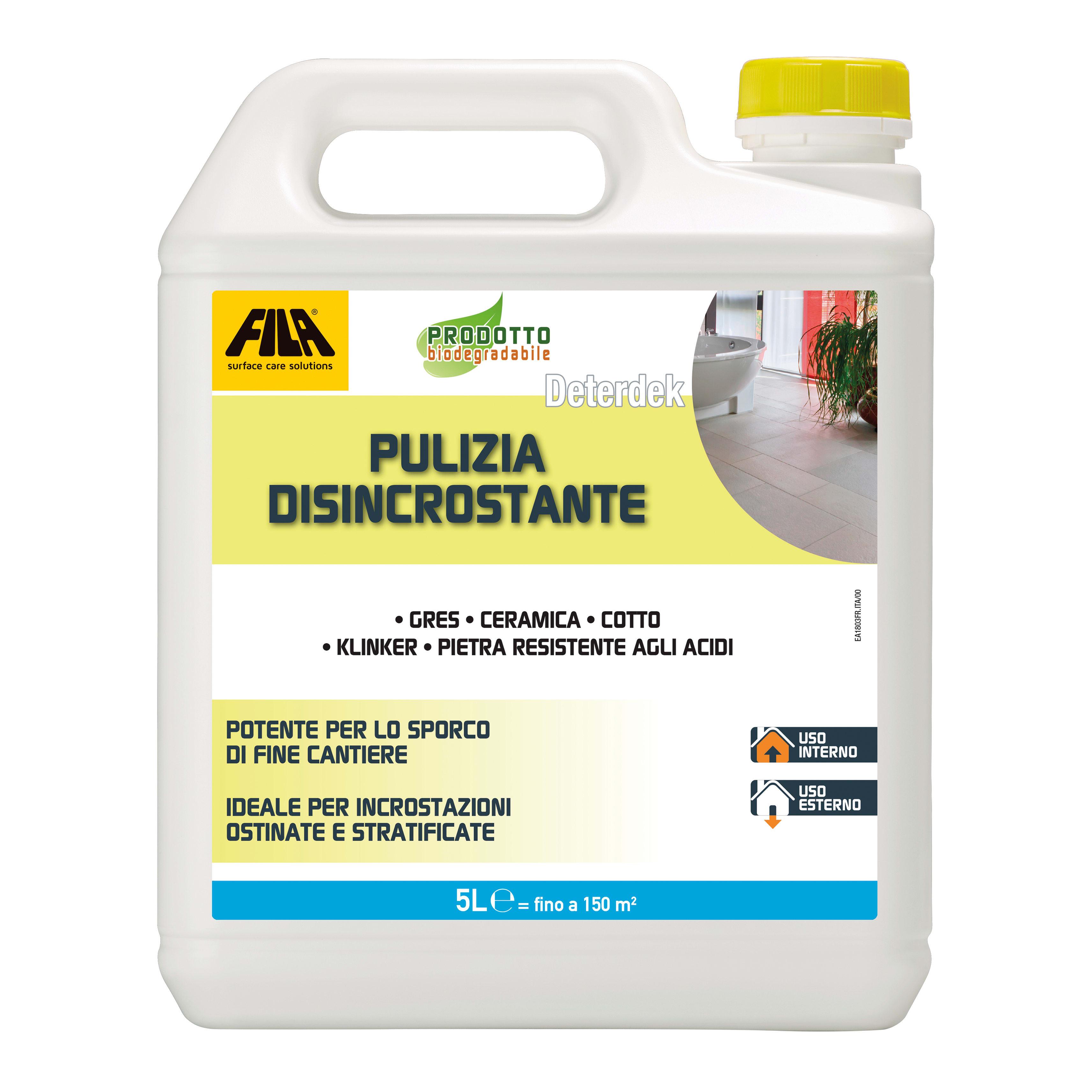 Detergente Per Cotto Esterno detergente pulizia disincrostante deterdek fila 5000 ml