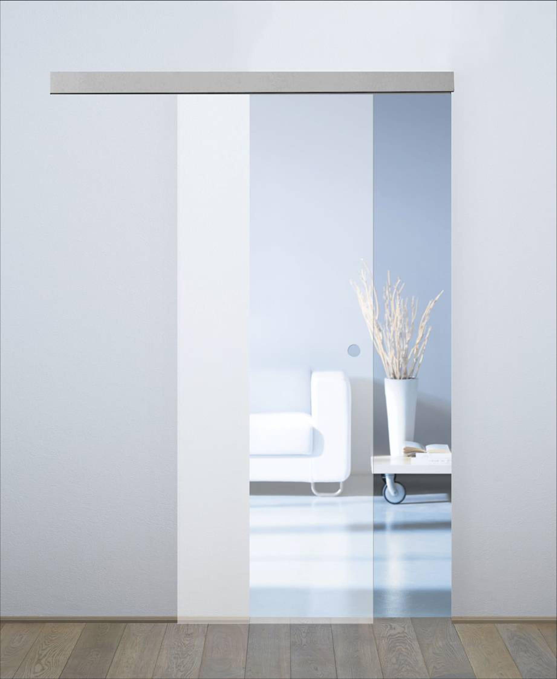 Porta Scorrevole Con Binario Esterno porta scorrevole con binario esterno orlando in cristallo kit a l 86 x h  215 cm