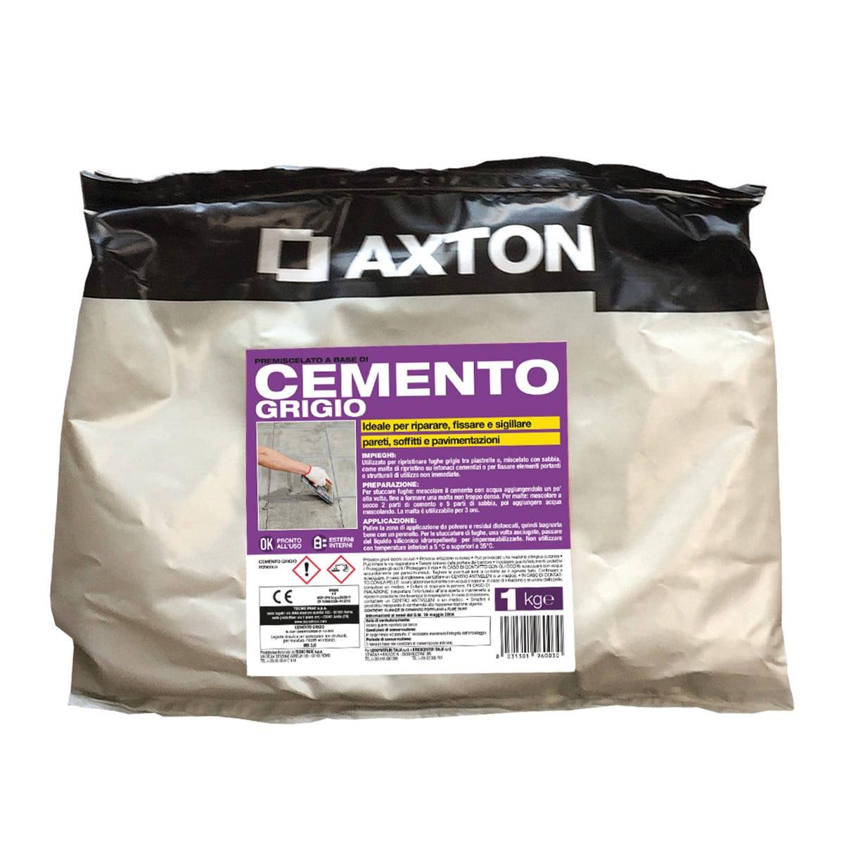 Cemento Premiscelato Per Top Cucina cemento axton grigio 1 kg
