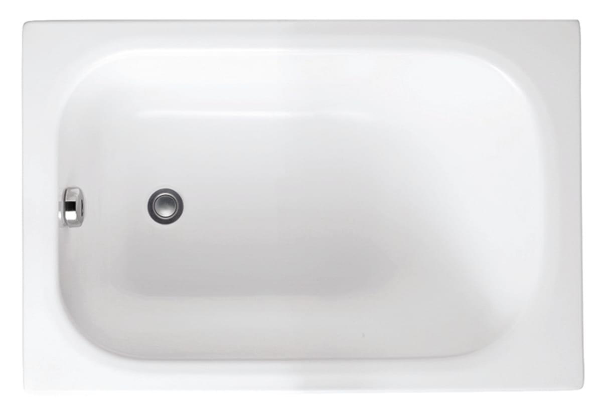 Vasca Da Bagno Piccolissima.Vasca Rettangolare Mini Bianco 105 X 70 Cm