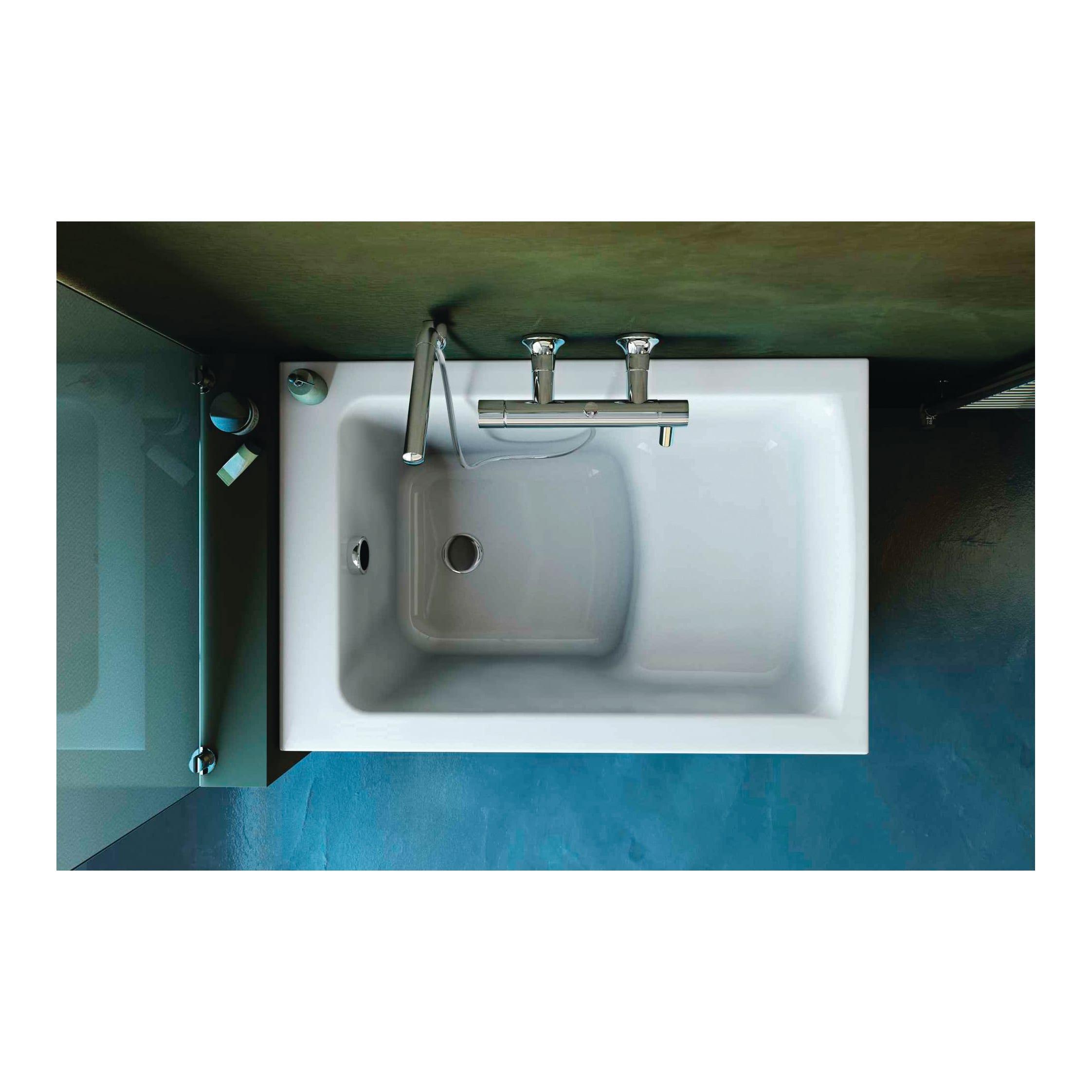 Vasca Da Bagno 120x70 Ideal Standard.Vasca Rettangolare Flower Bianco 120 X 70 Cm Ideal Standard