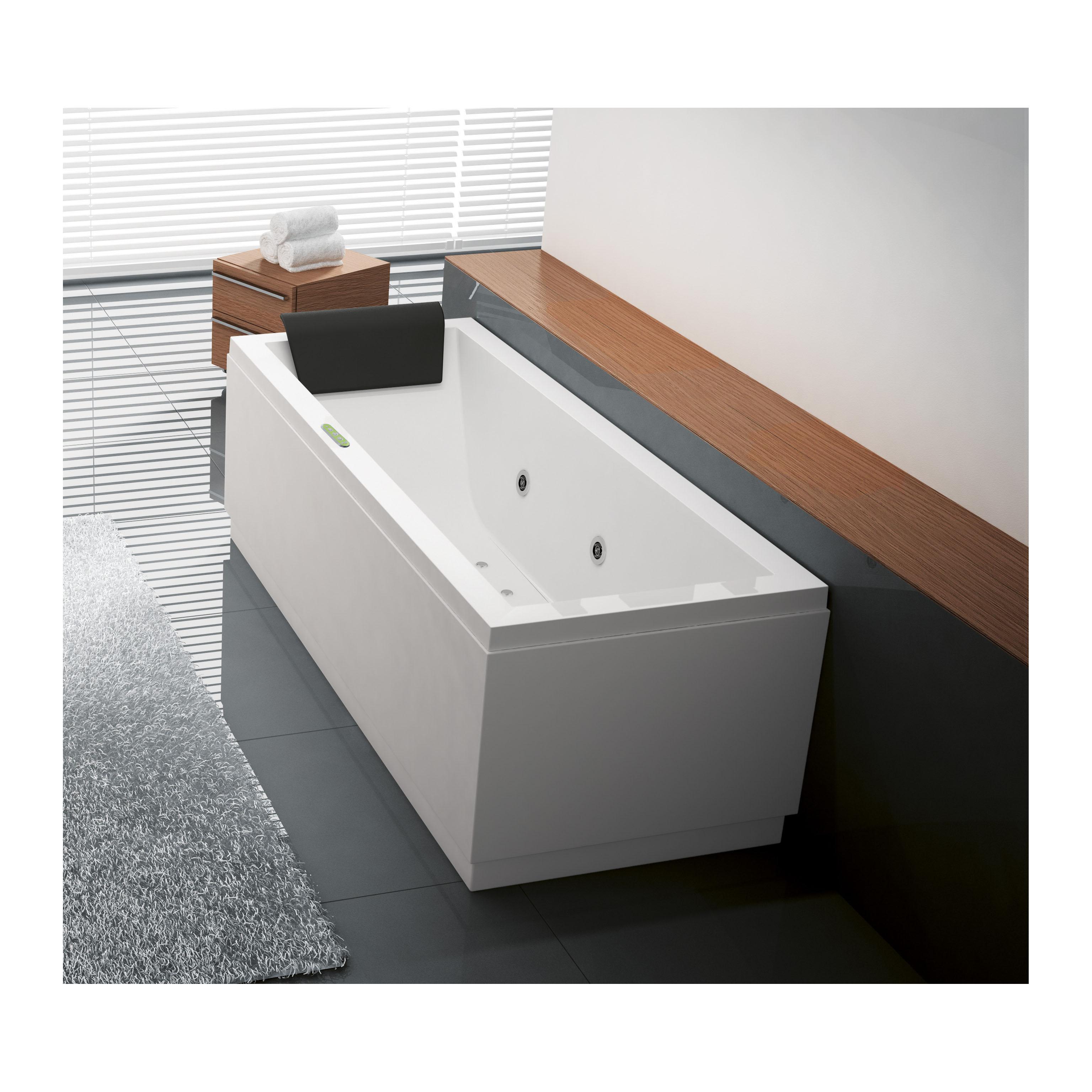 Vasche Idromassaggio Misure E Prezzi vasca idromassaggio rettangolare amea bianco 160 x 70 cm 6 bocchette