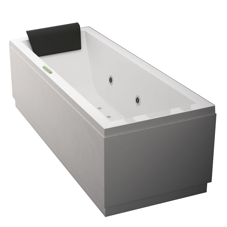 Vasche Idromassaggio Misure E Prezzi vasca idromassaggio rettangolare amea bianco 170 x 70 cm 6 bocchette