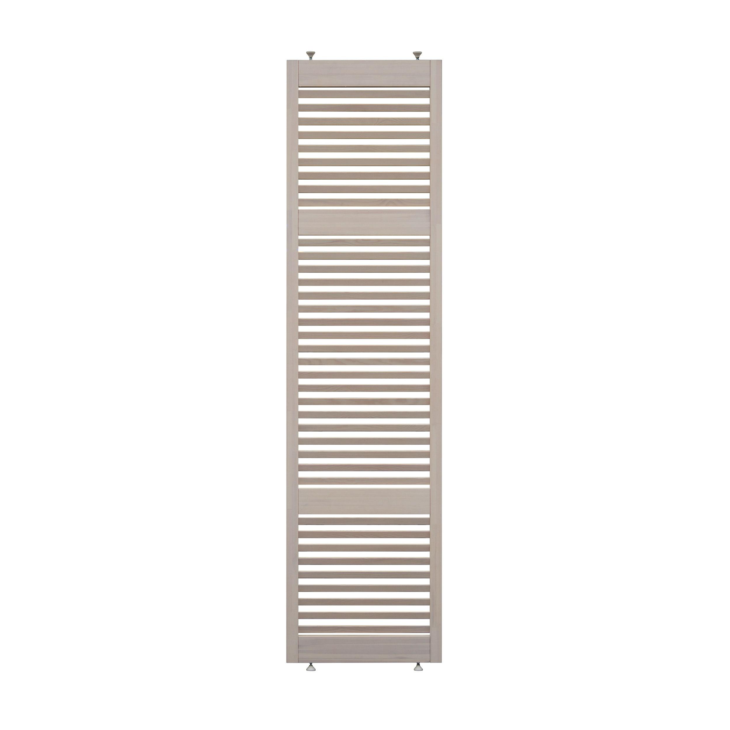 Parete Divisoria In Legno parete divisoria in legno l 66 x h 270 cm sbiancata
