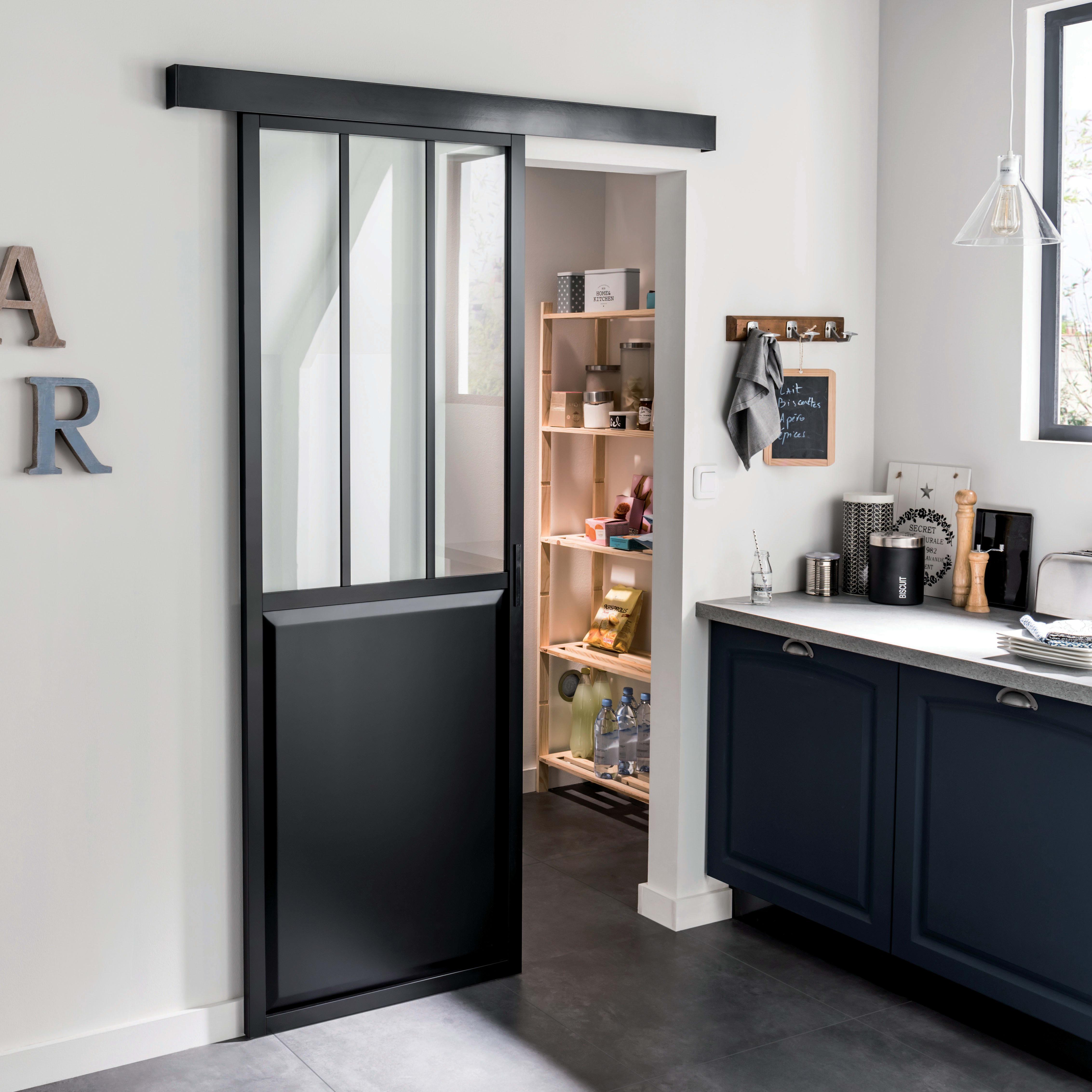 Porta Scorrevole Esterna Vetro porta scorrevole con binario esterno atelier in vetro l 86 x h 215 cm