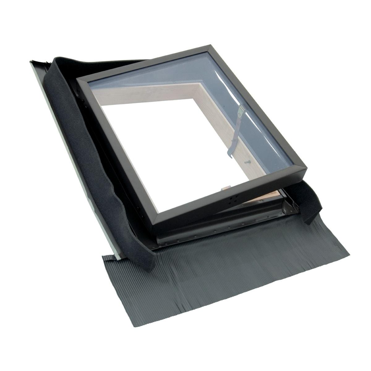 Finestra Oblò Leroy Merlin lucernario fe4555 manuale l 45 x h 55 cm marrone