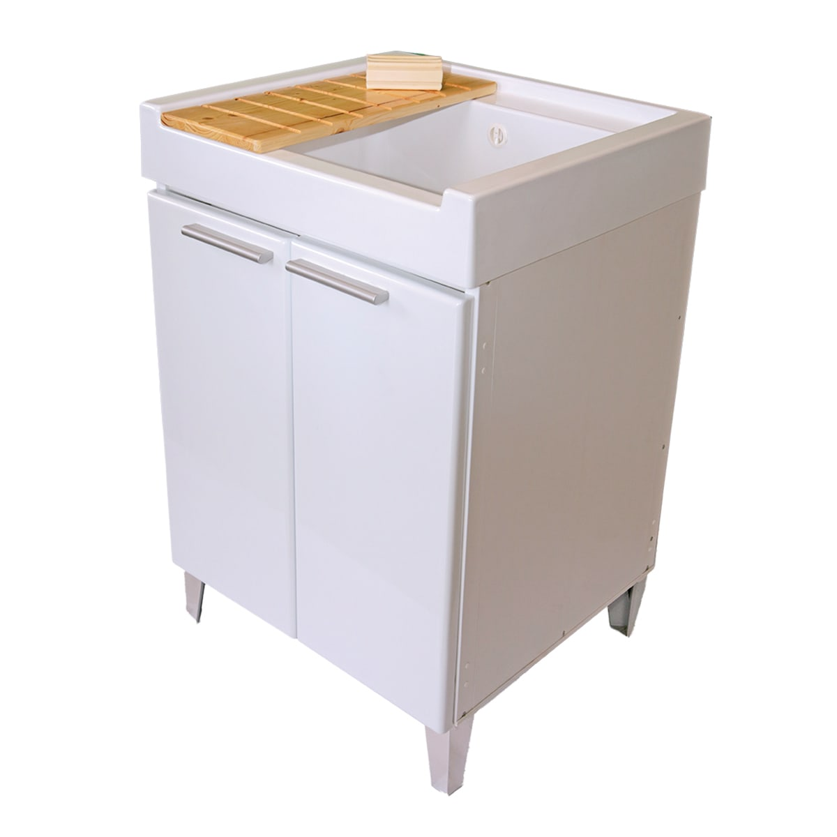 Cesta Bucato Leroy Merlin mobile lavanderia doni bianco l 59.2 x p 62.4 x h 84 cm