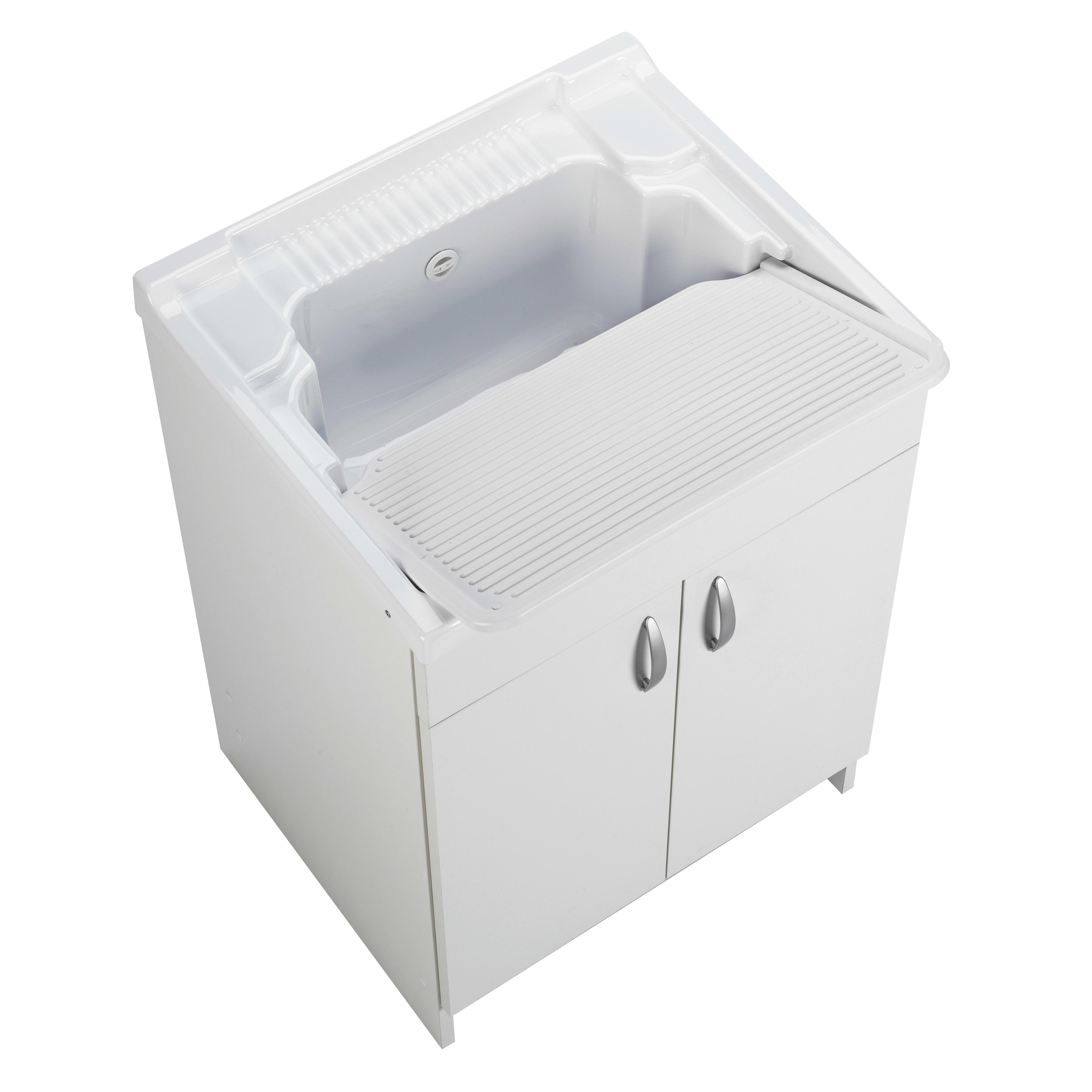 Lavatoio Ceramica Leroy Merlin.Mobile Lavanderia Prix Bianco L 59 2 X P 50 5 X H 84 Cm